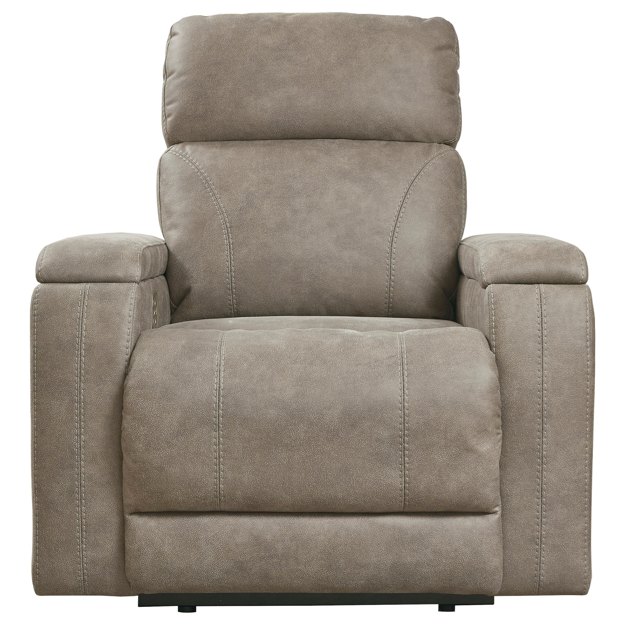 Vendor 3 Rowlett 0184570 Contemporary Power Recliner With Adjustable Headrest And Built In Usb Charger Becker Furniture Recliners
