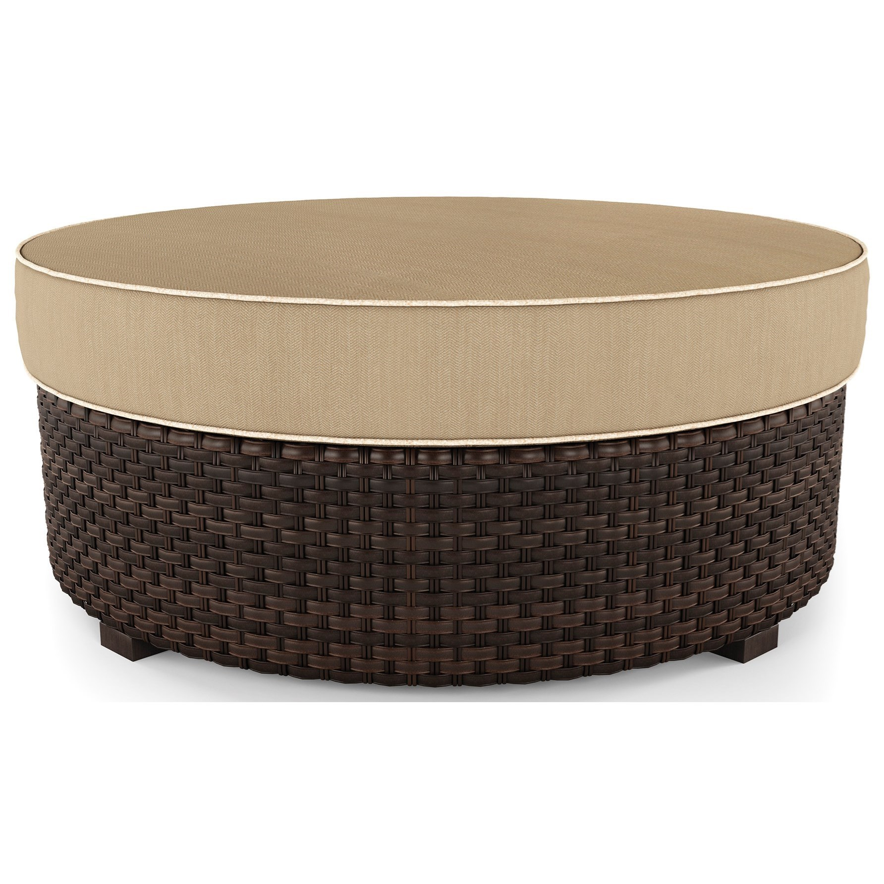 Wicker Ottoman Spring Ridge Resin Wicker Ottoman With Cushion By Signature Design By Ashley At Rife S Home Furniture