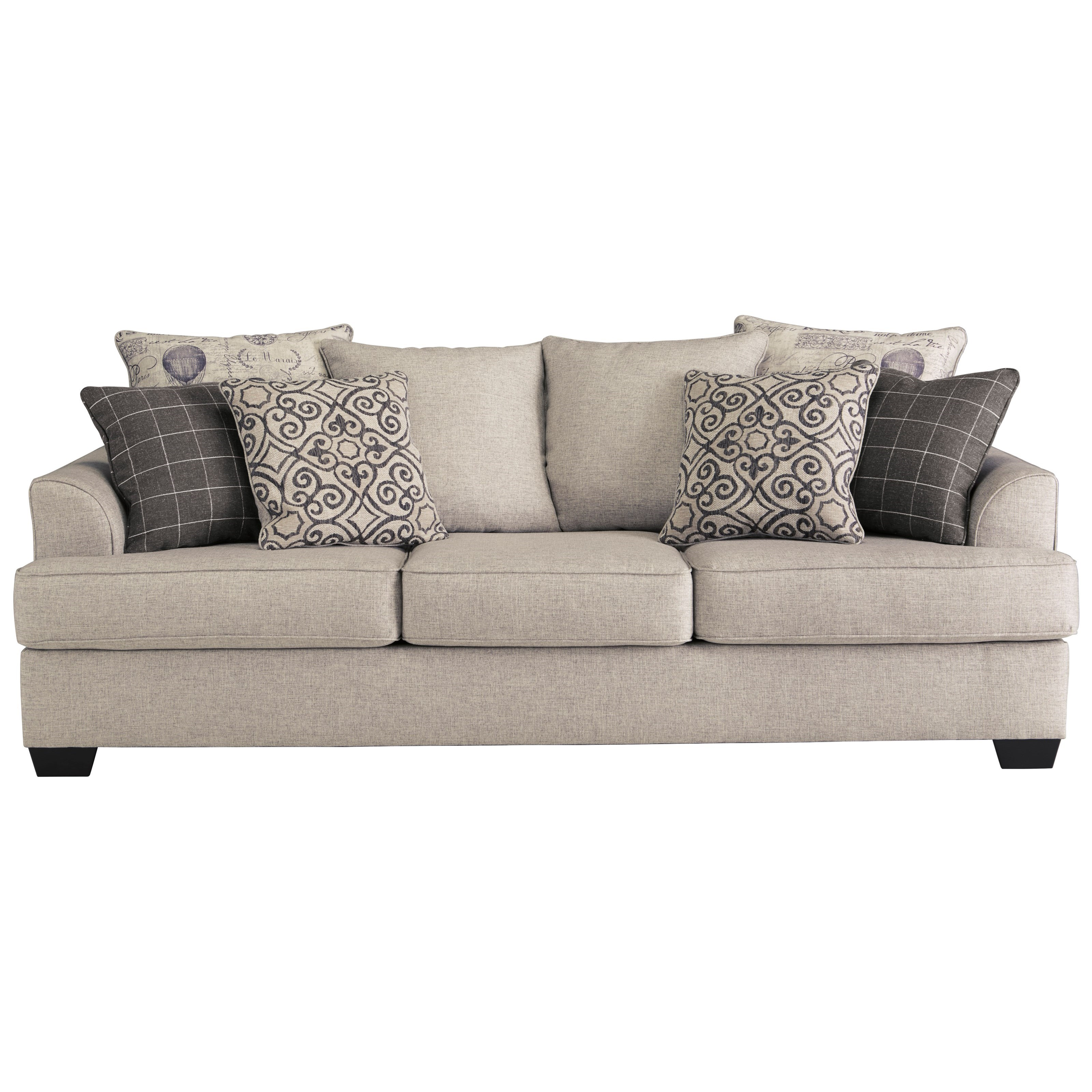 Vintage Couch Velletri Relaxed Vintage Sofa With 4 Decorative Pillows By Signature Design By Ashley At Royal Furniture