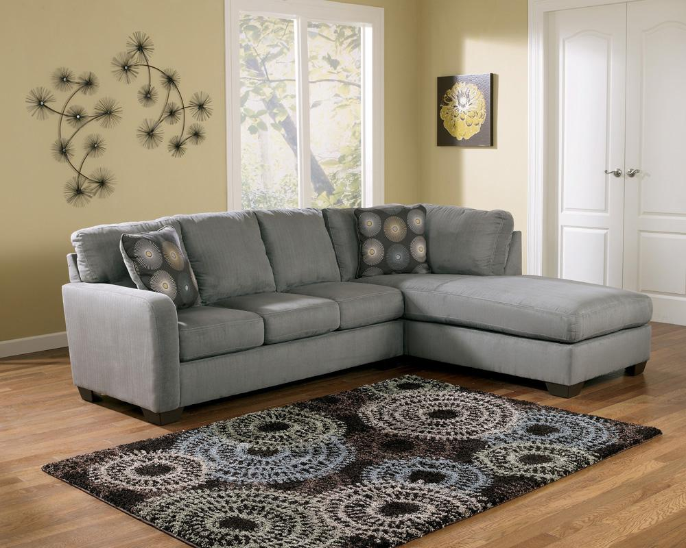 Signature Design By Ashley Zella Charcoal Contemporary Sectional Sofa With Right Arm Facing Chaise Royal Furniture Sectional Sofas