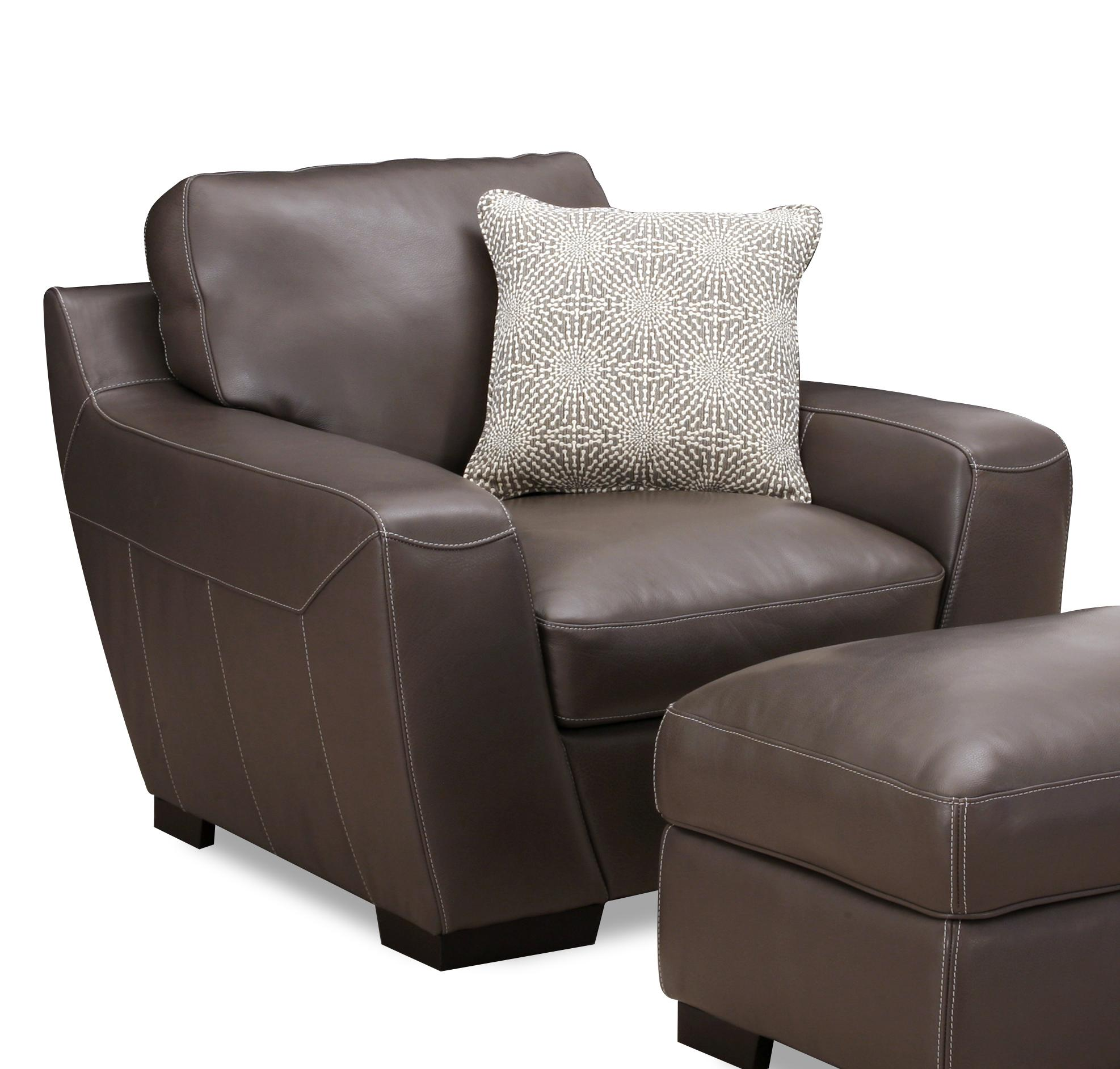 Alpha Sofa Group Simon Li Alpha Leather Match Chair With Accent Pillow Rooms For