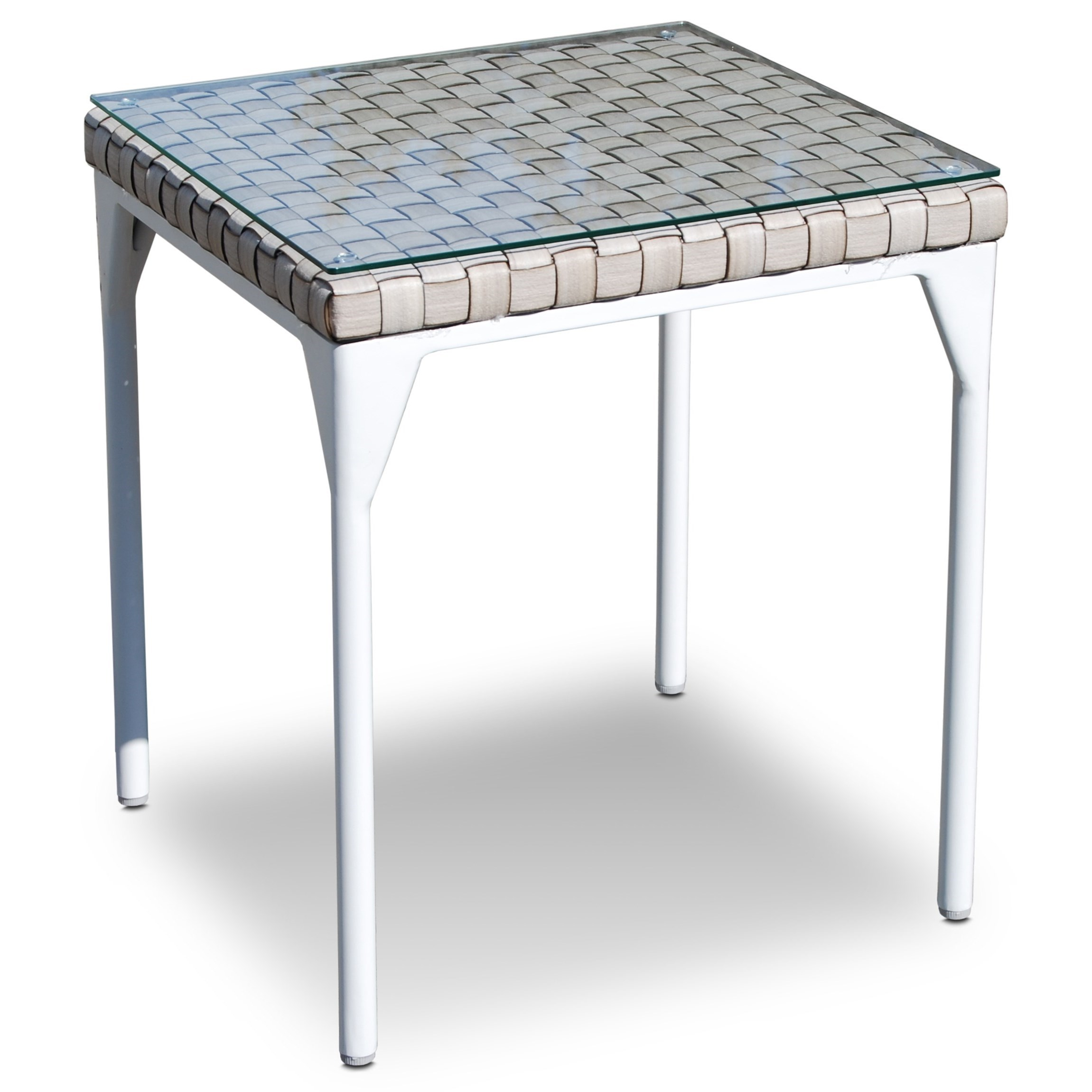 Glass Top Outdoor Table Skyline Design Brafta Outdoor Side Table With Glass Top