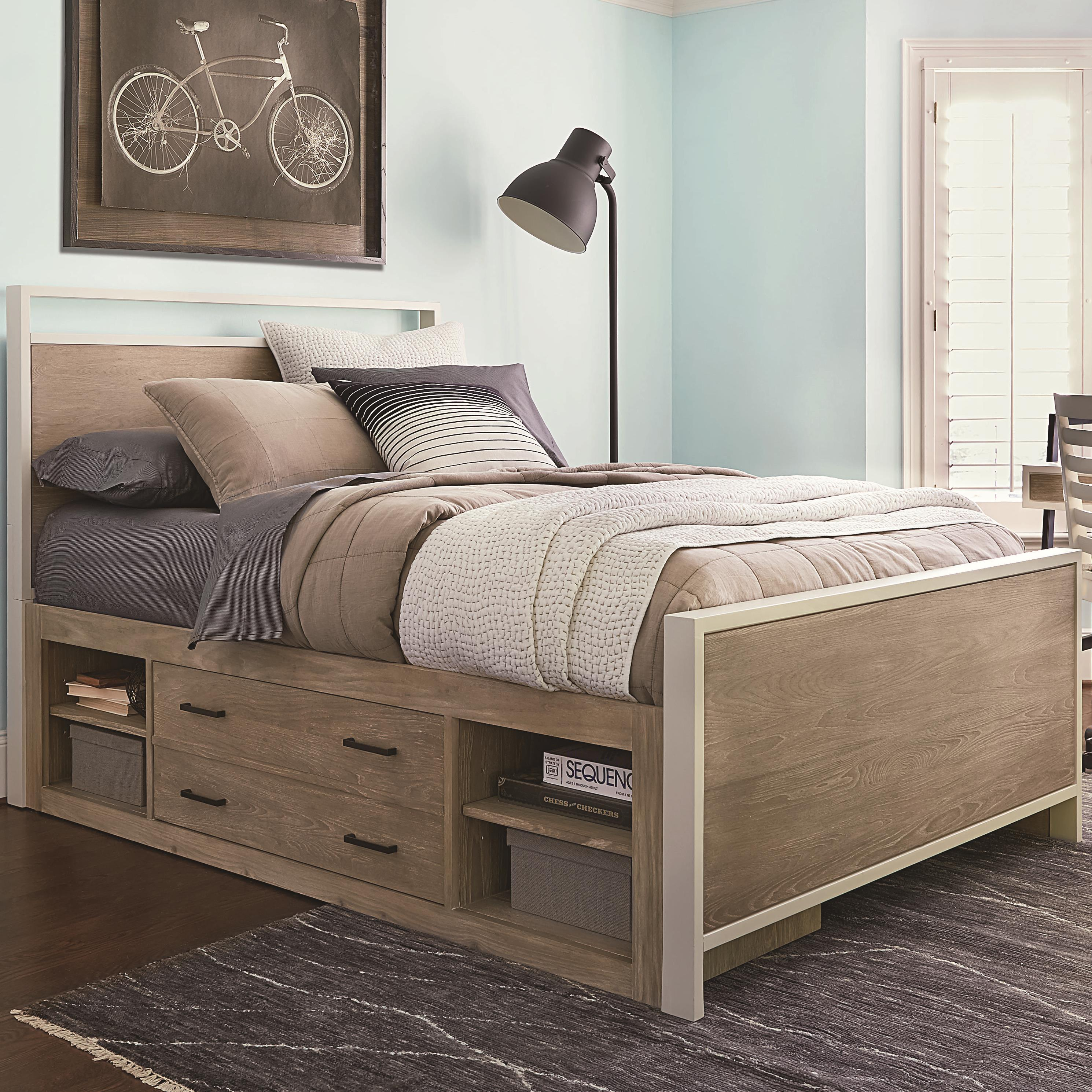 Under Bed Storage Frame Myroom Twin Storage Bed By Smartstuff At Homeworld Furniture