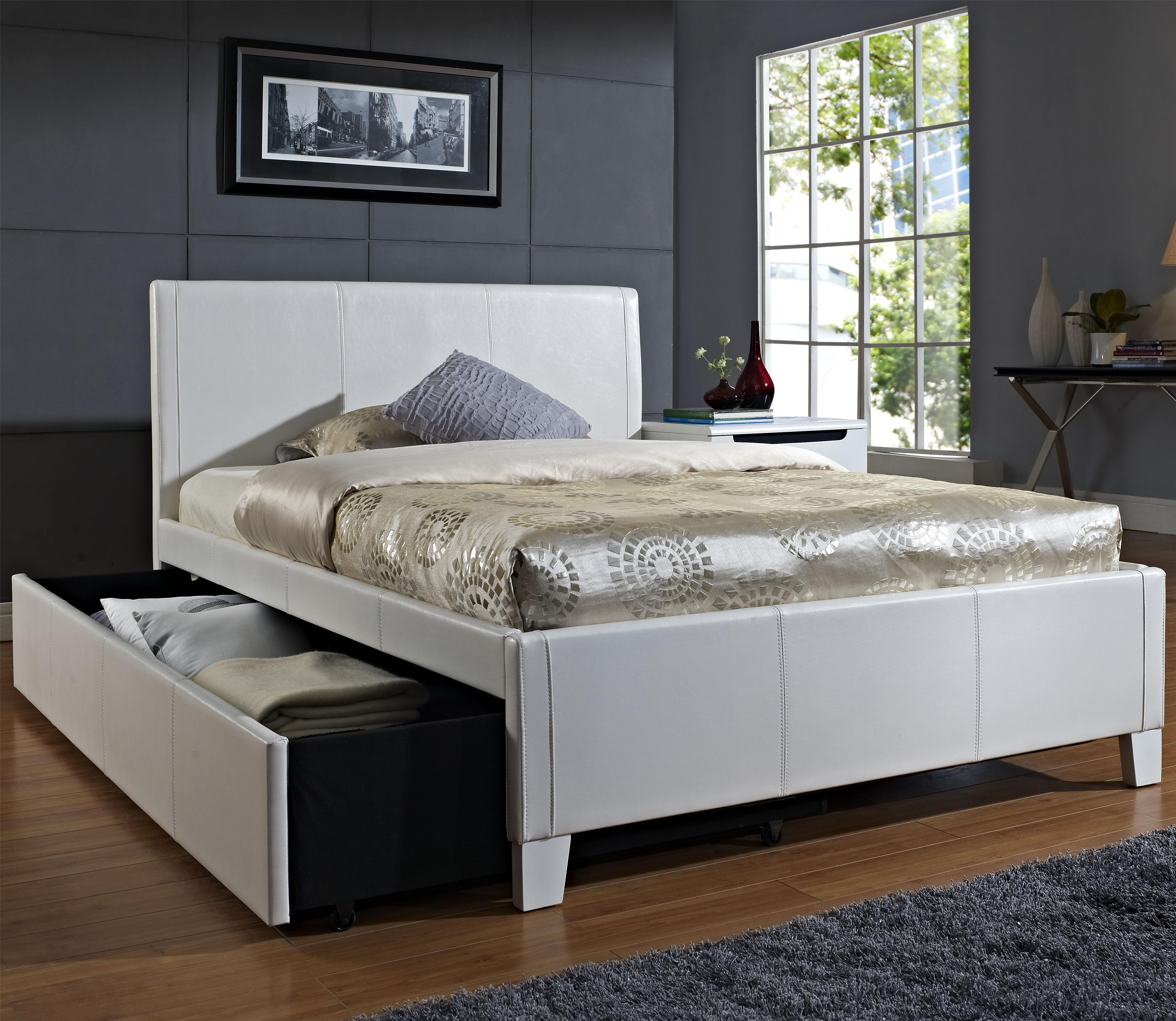 Discount Trundle Beds Fantasia Full Upholstered Youth Trundle Bed By Standard Furniture At Dunk Bright Furniture