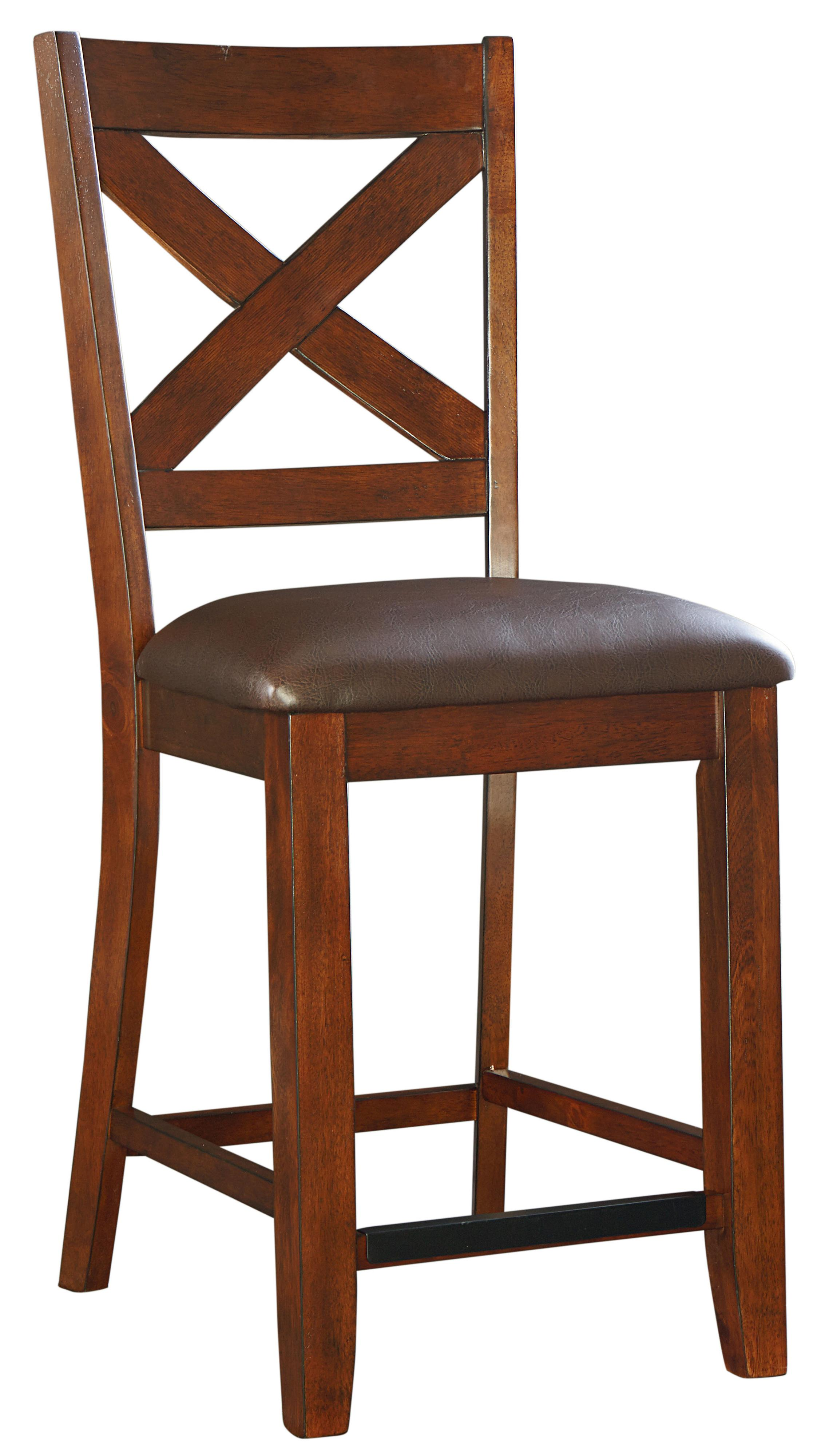 Fabric Counter Height Bar Stools Omaha Brown Counter Height Bar Stool With Upholstered Seat And X Back By Standard Furniture At Dunk Bright Furniture