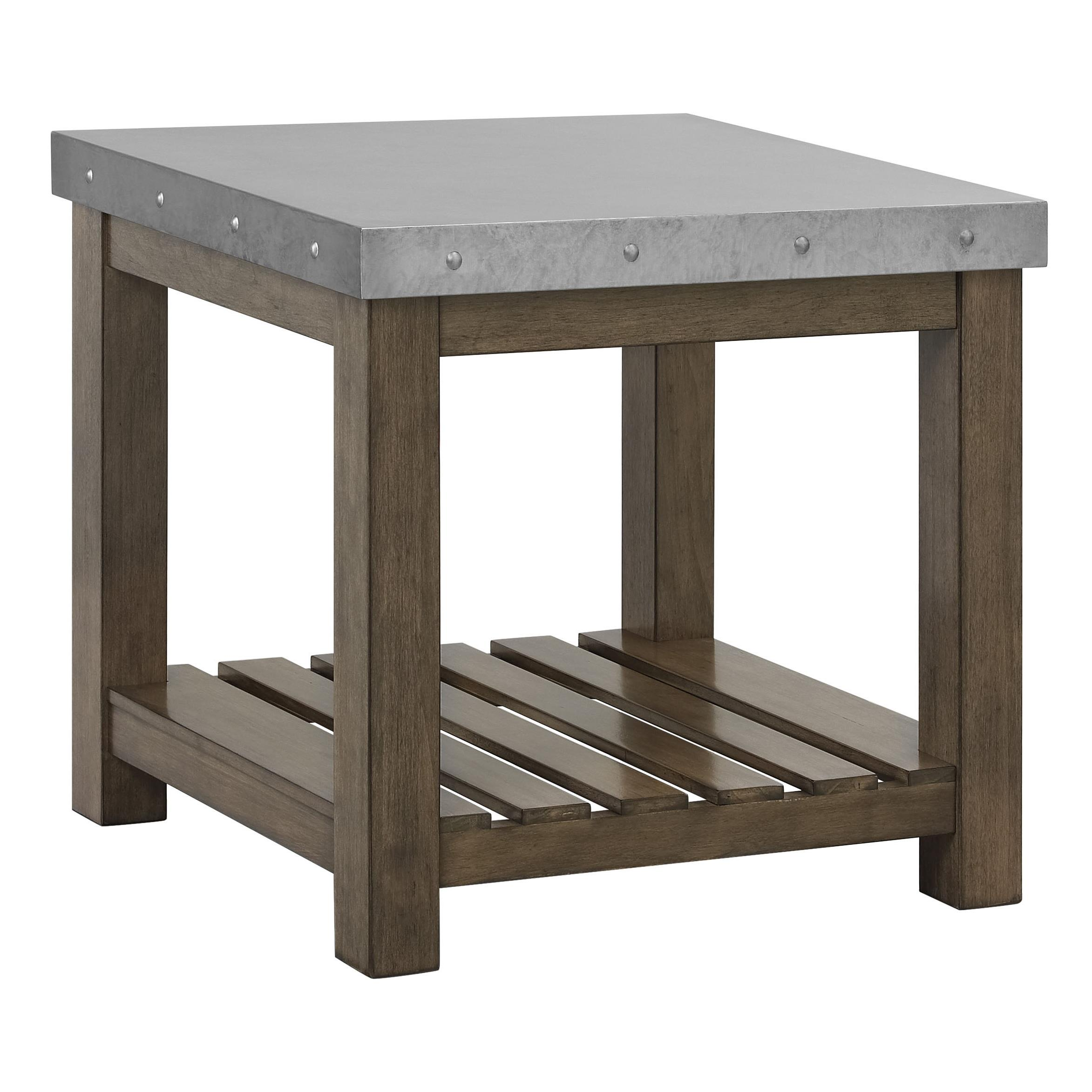 Standard Furniture Riverton Accent Tables Metal Top End