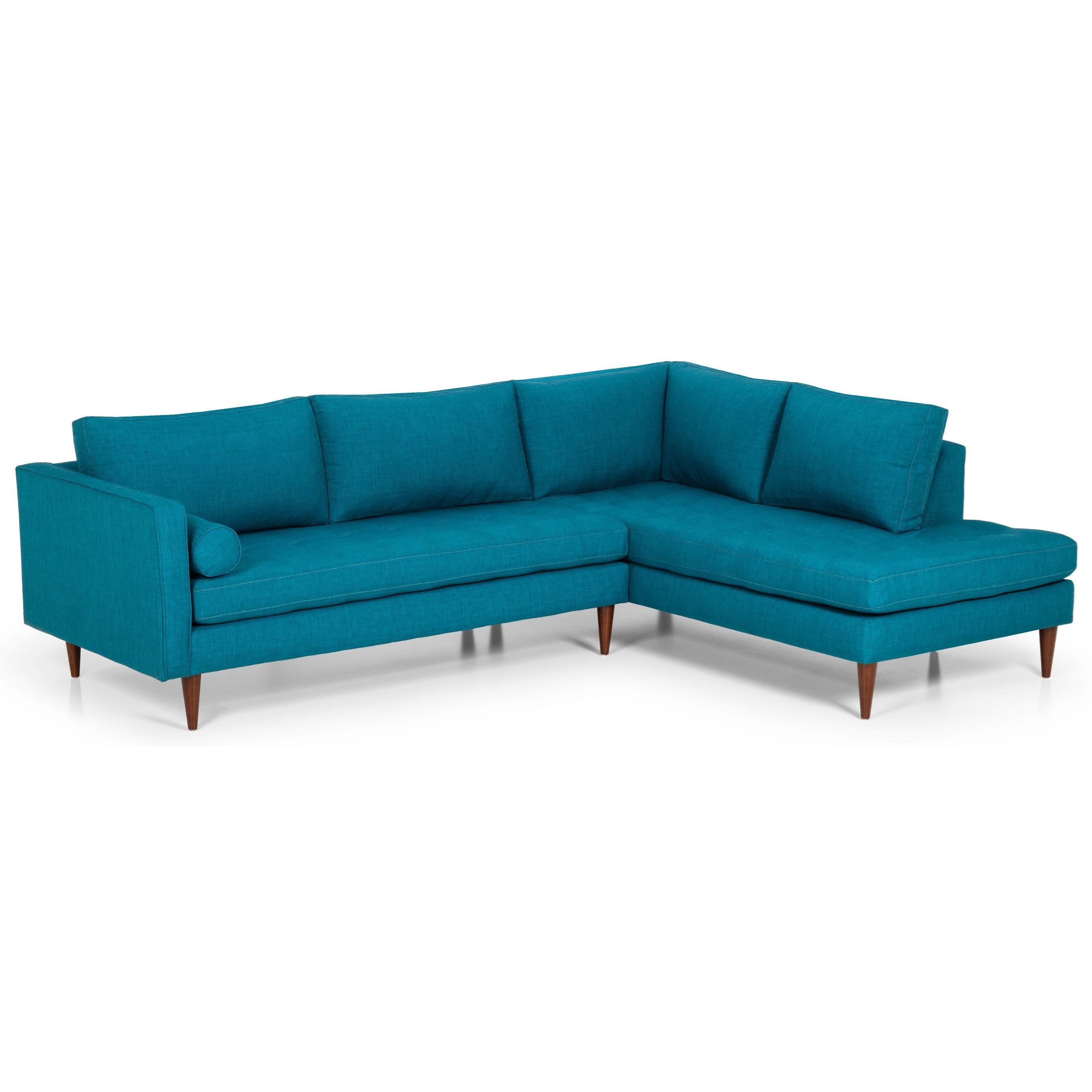 Sunset Home 533 Mid Century Modern L Shaped Sectional Sadler S Home Furnishings Sectional Sofas