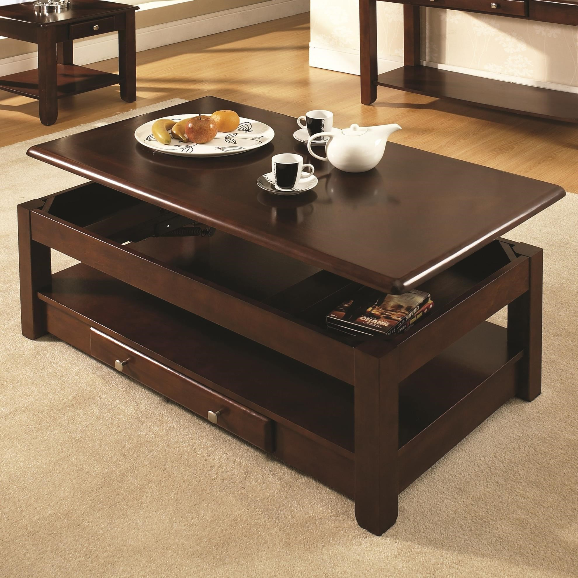 Couchtisch Ohio Steve Silver Nelson Lift-top Cocktail Table With Drawer
