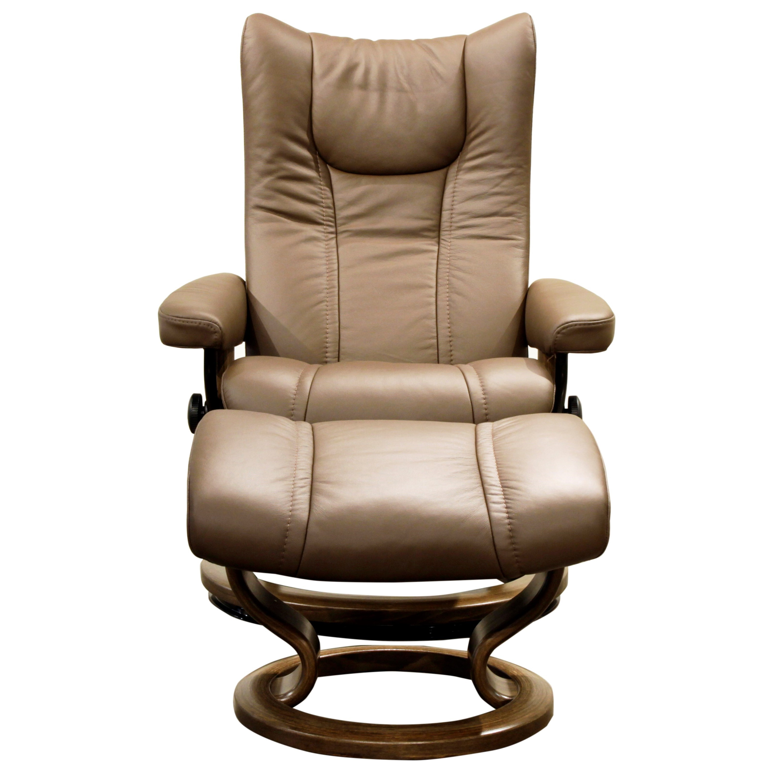 Stressless Wing Classic Legcomfort Stressless Wing Small Reclining Chair And Ottoman With