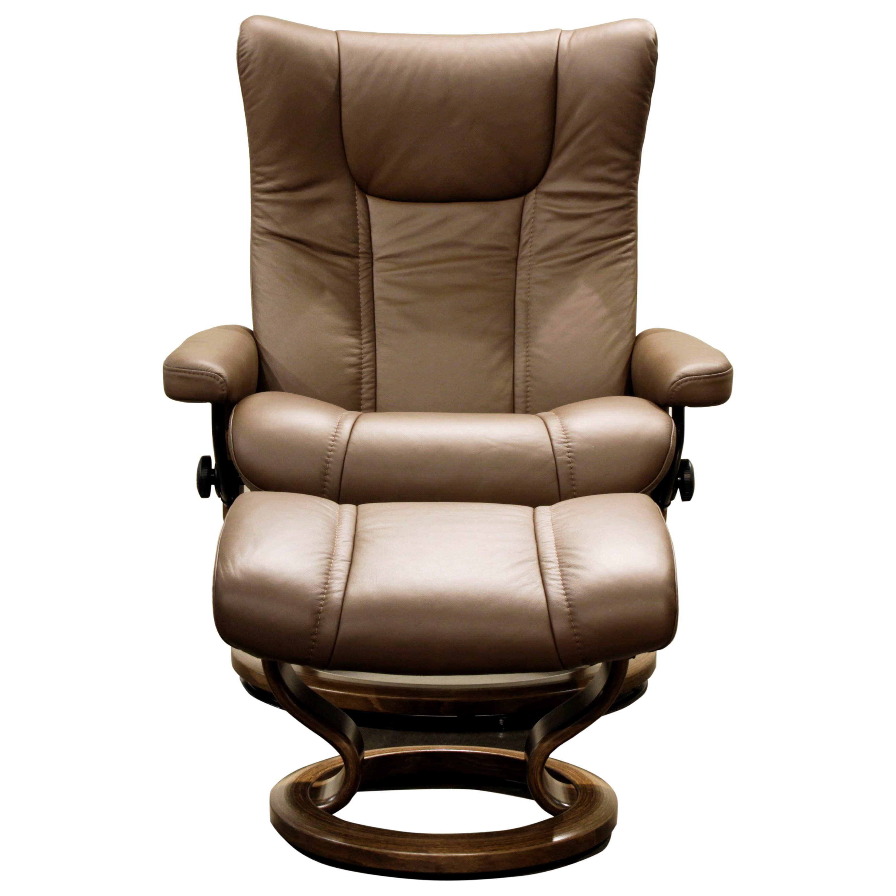 Stressless Wing Classic Legcomfort Stressless Wing Large Reclining Chair And Ottoman With