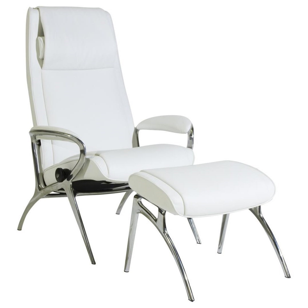 Stresless Stressless You James Reclining Chair Ottoman With Aluminum Base By Stressless At Dunk Bright Furniture