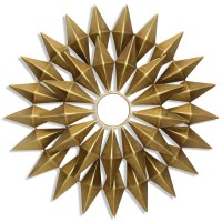 StyleCraft Wall Dcor WI42574 Gold Metal Starburst Wall ...