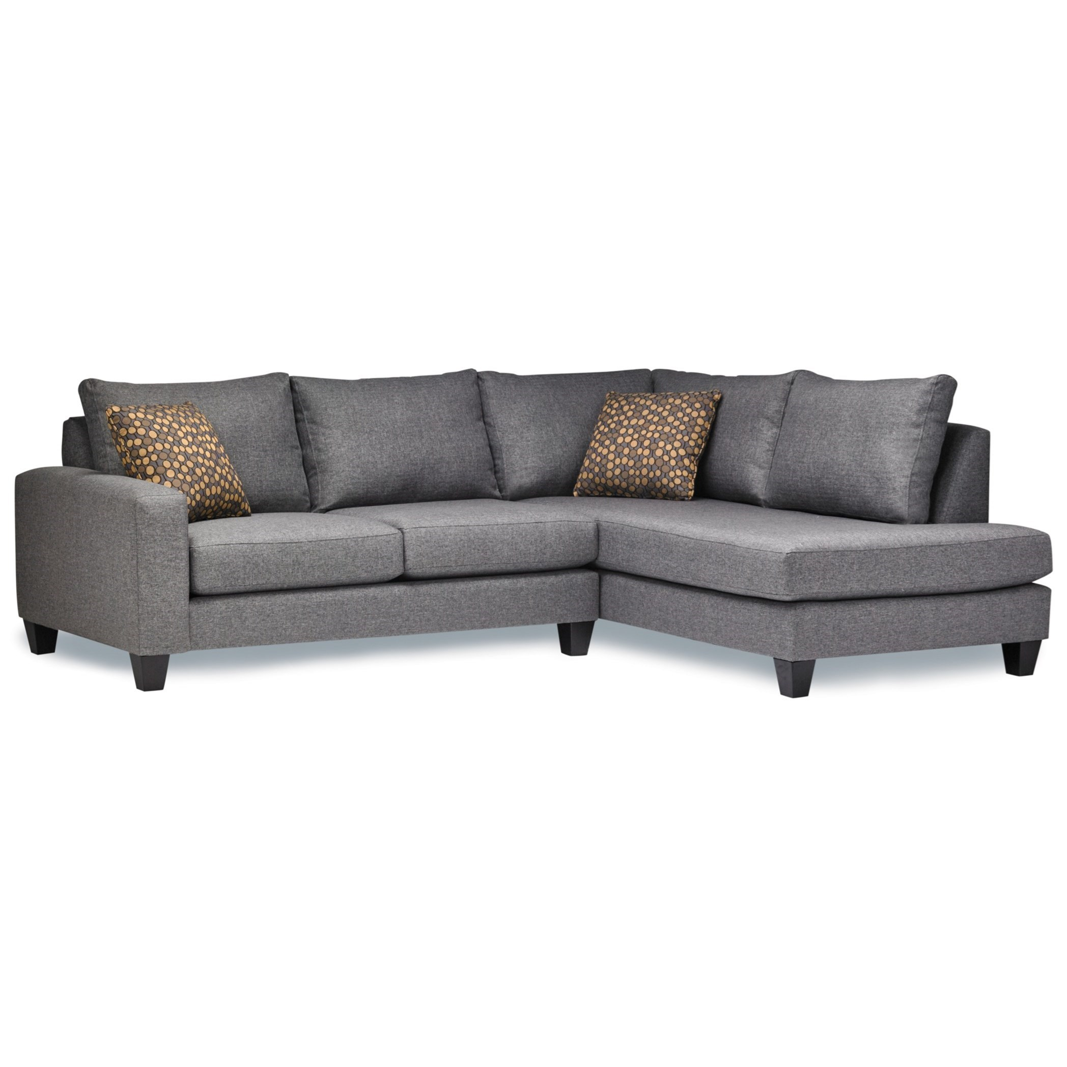 Chaise Pc 7711 Casual Two Piece Sectional Sofa With Raf Chaise Return