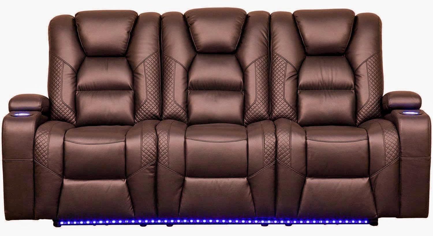 Synergy Home Furnishings 549 107085740 Power Headrest Reclining Sofa With Led Lighting Beck S Furniture Reclining Sofas