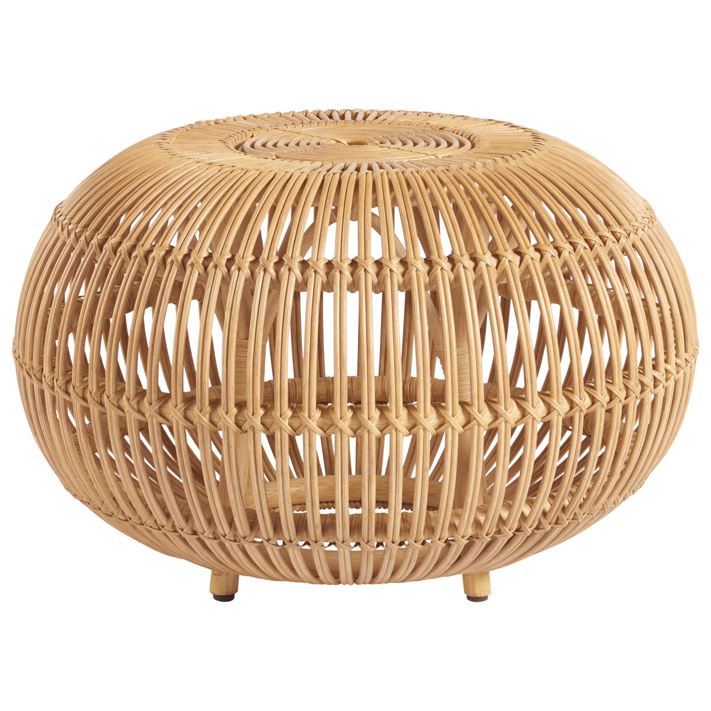 Universal Coastal Living Home Escape 833811 Small Rattan Scatter Table Upper Room Home Furnishings End Tables