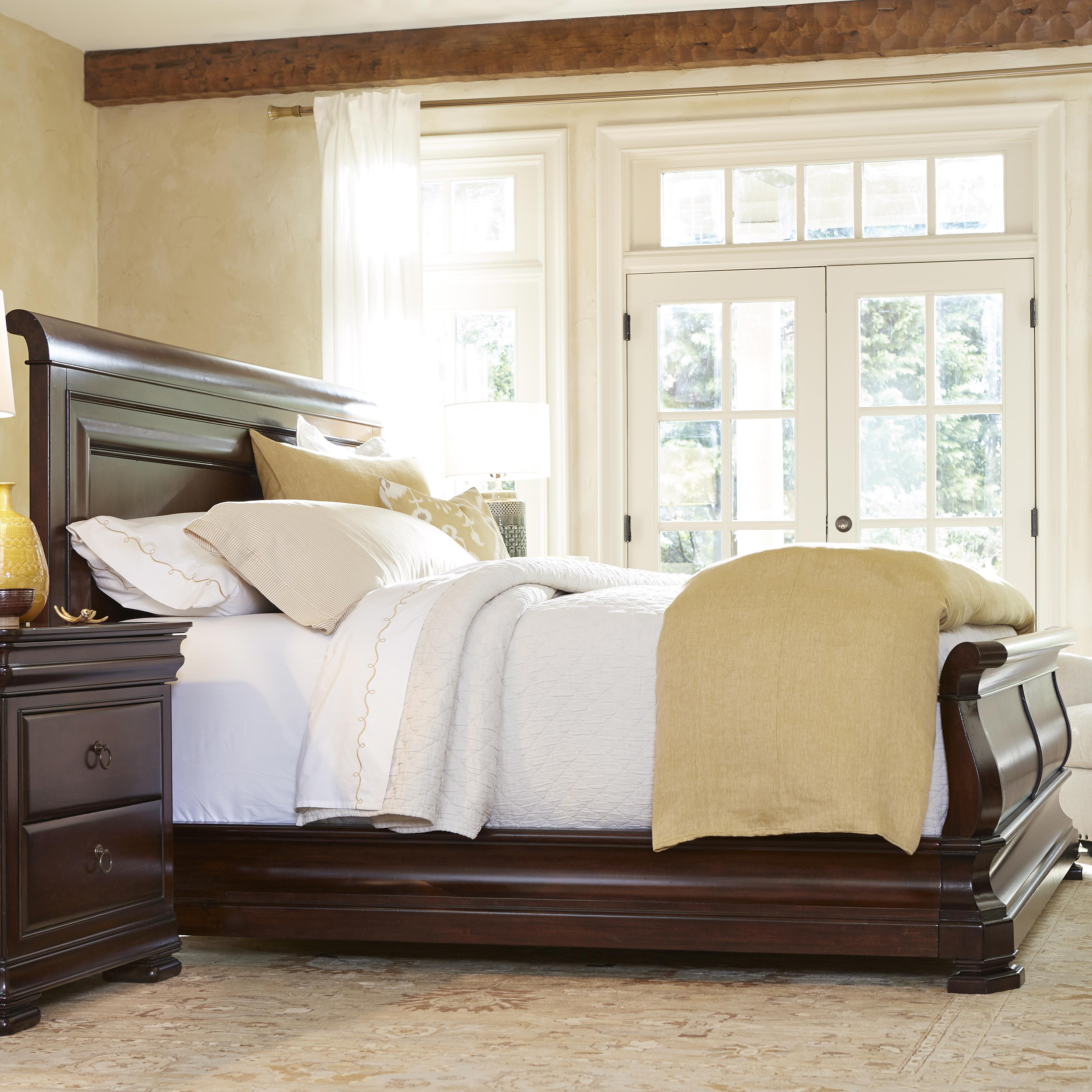 Bed Headboard Reprise King Sleigh Bed With Paneled Headboard By Universal At Zak S Home