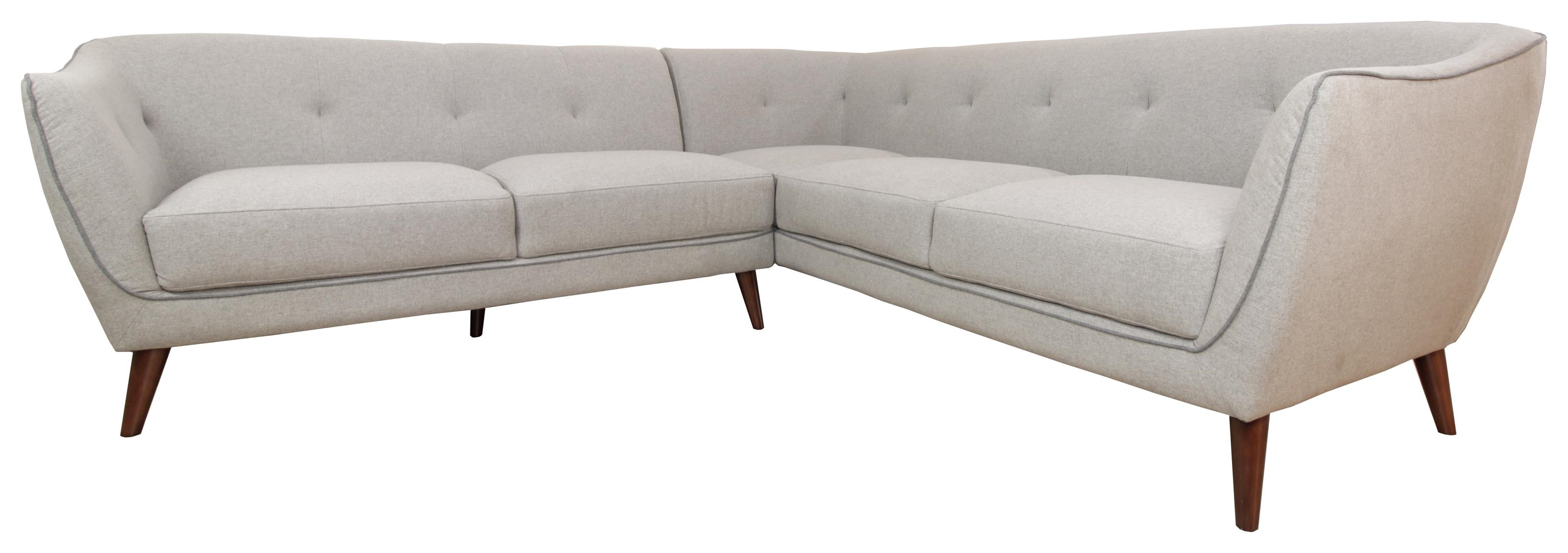 Urban Chic Sunday 123435050 Mid Century Modern Sectional Sofa Beck S Furniture Sectional Sofas