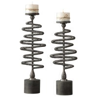 Uttermost Accessories 18816 Zigzag Candleholders Set of 2 ...
