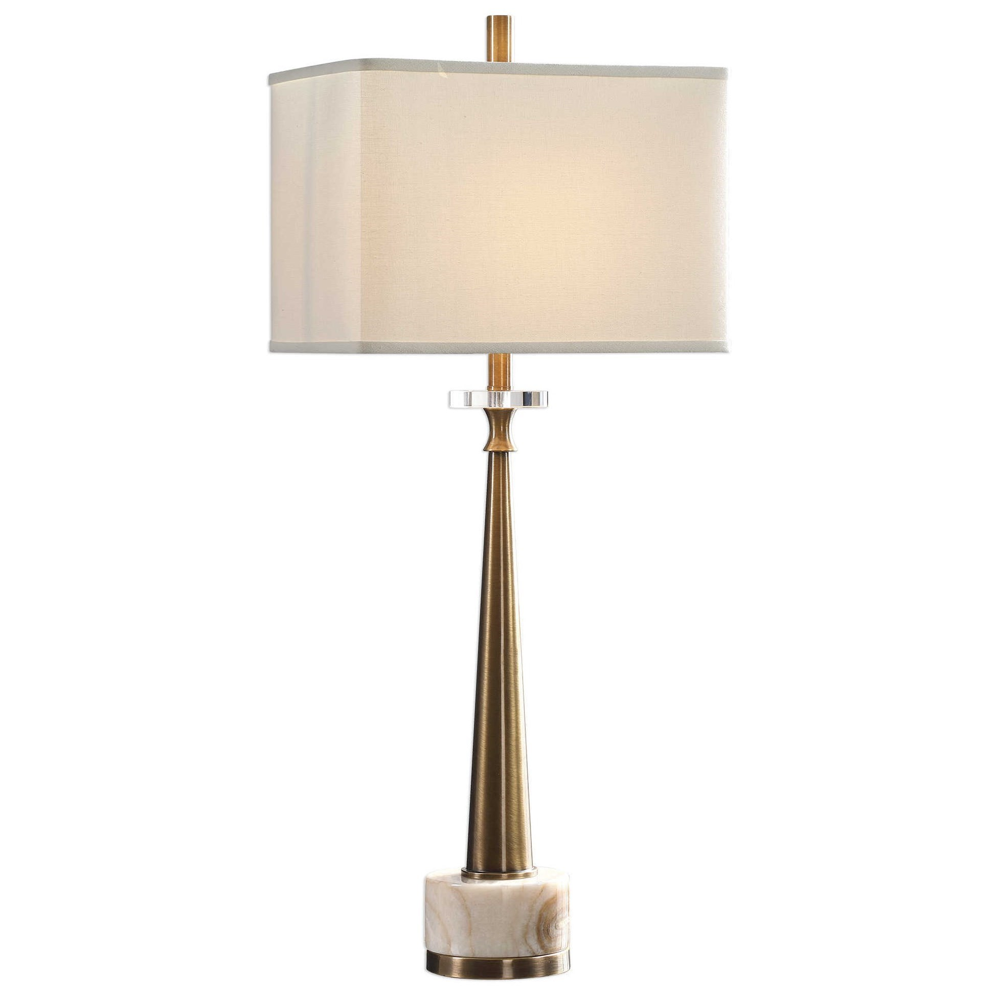 Uttermost Buffet Lamps 29616 1 Verner Tapered Brass Table Lamp O Dunk O Bright Furniture Table Lamps