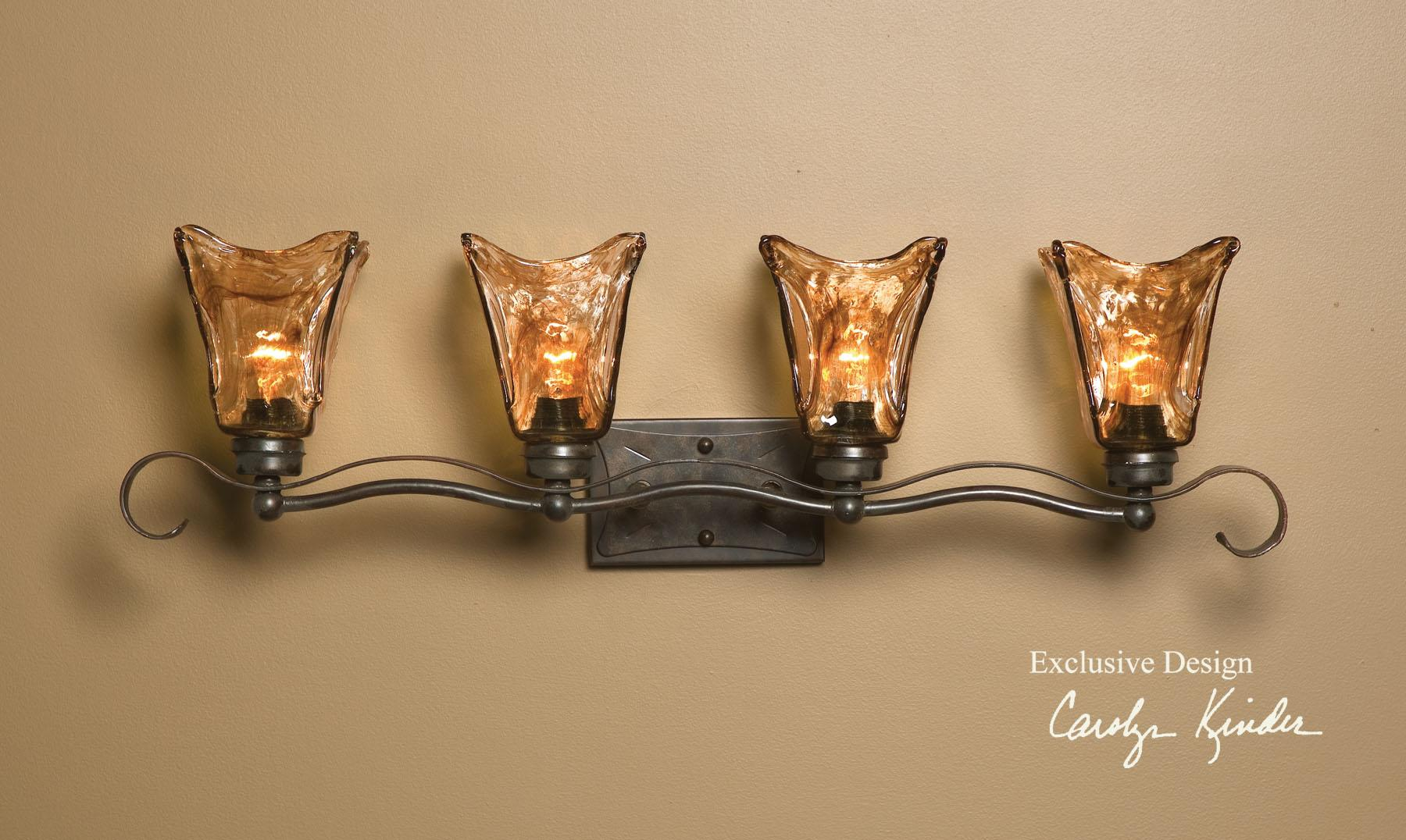 Lighting Fixtures Lighting Fixtures Wall Sconces Vetraio 4 Light Vanity Strip By Uttermost At Dunk Bright Furniture