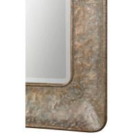 Mirrors Silas Hammered Gold Mirror | Becker Furniture ...