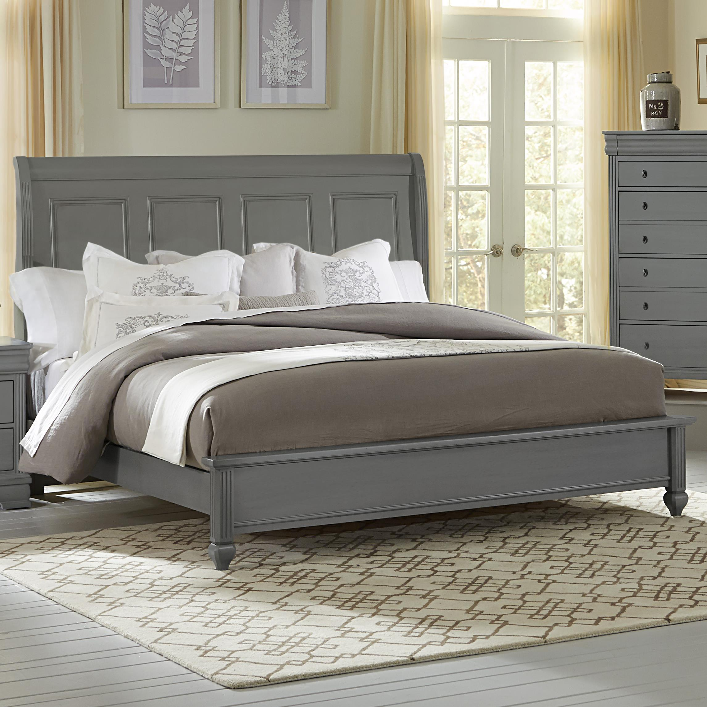 Sleigh Bed Headboard Versailles Queen Sleigh Bed With Platform Footboard By Vaughan Bassett At Crowley Furniture Mattress