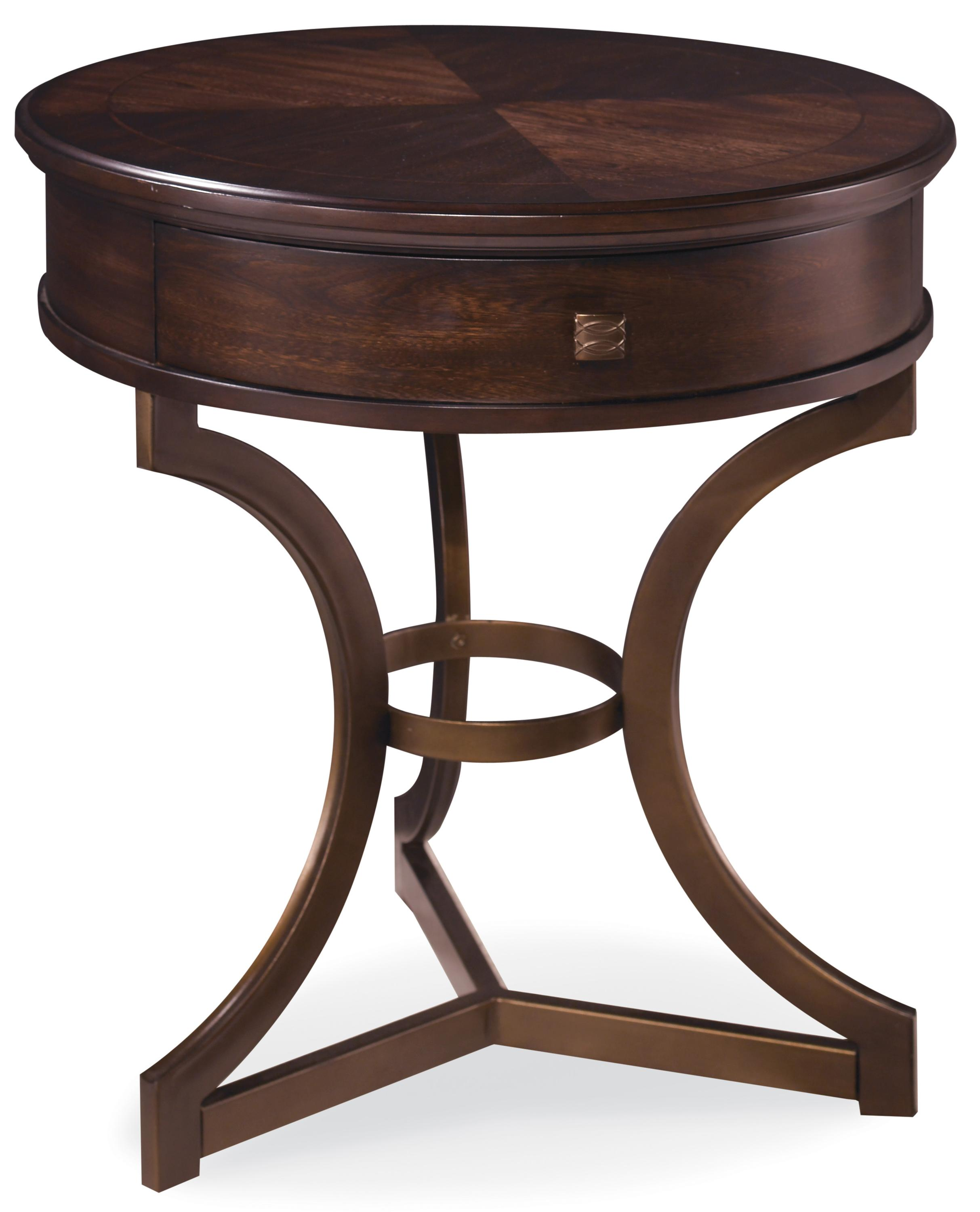 End Tables With Metal Legs A R T Furniture Inc Intrigue Round End Table With Curved