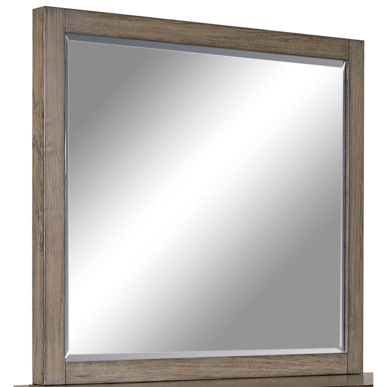 Loft Style Window Mirror Aspenhome Modern Loft Mirror With Beveled Glass Stoney