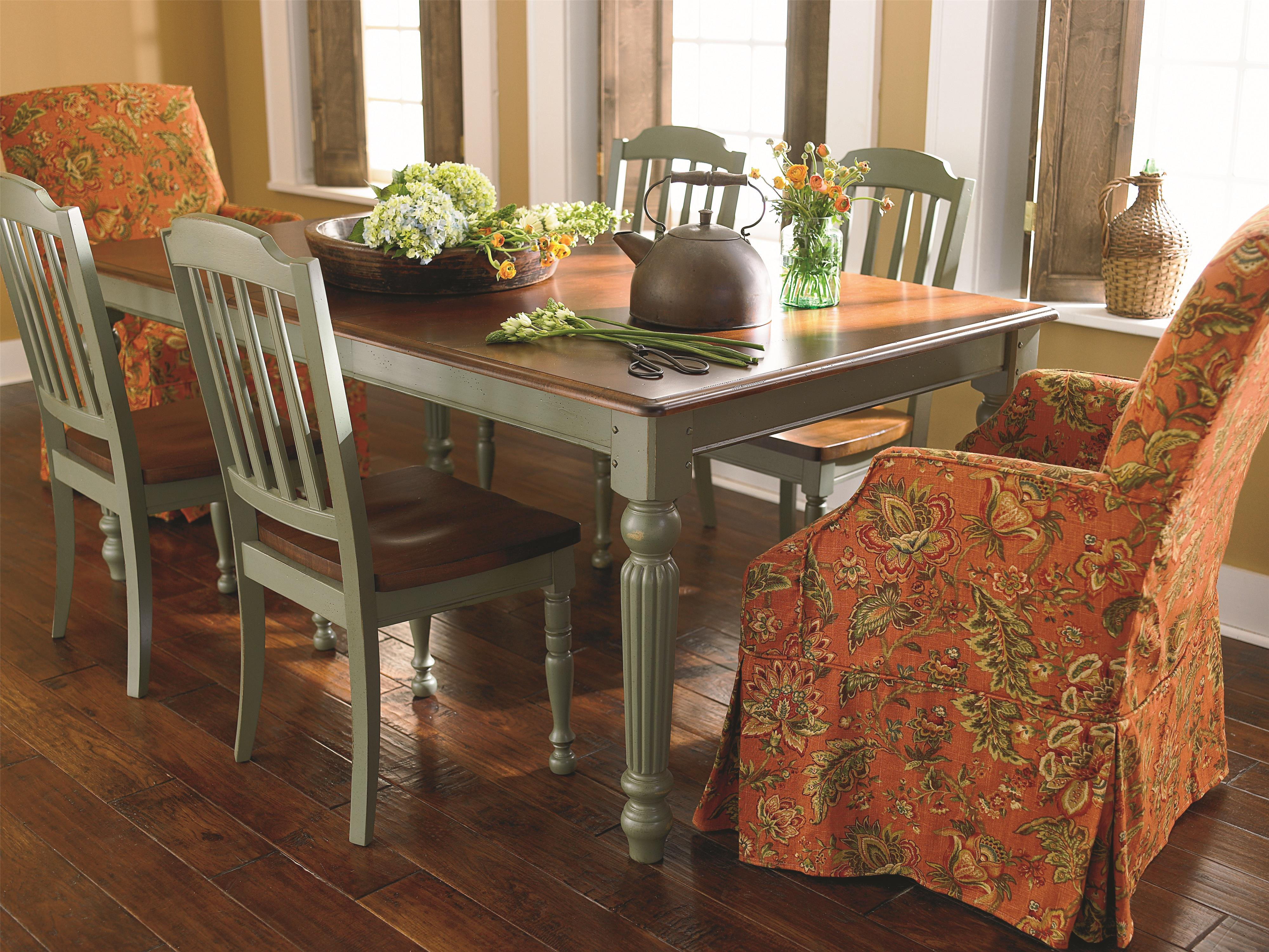 Basset Dining Room Bassett Custom Dining 4469 Customizable Rectangle Dining
