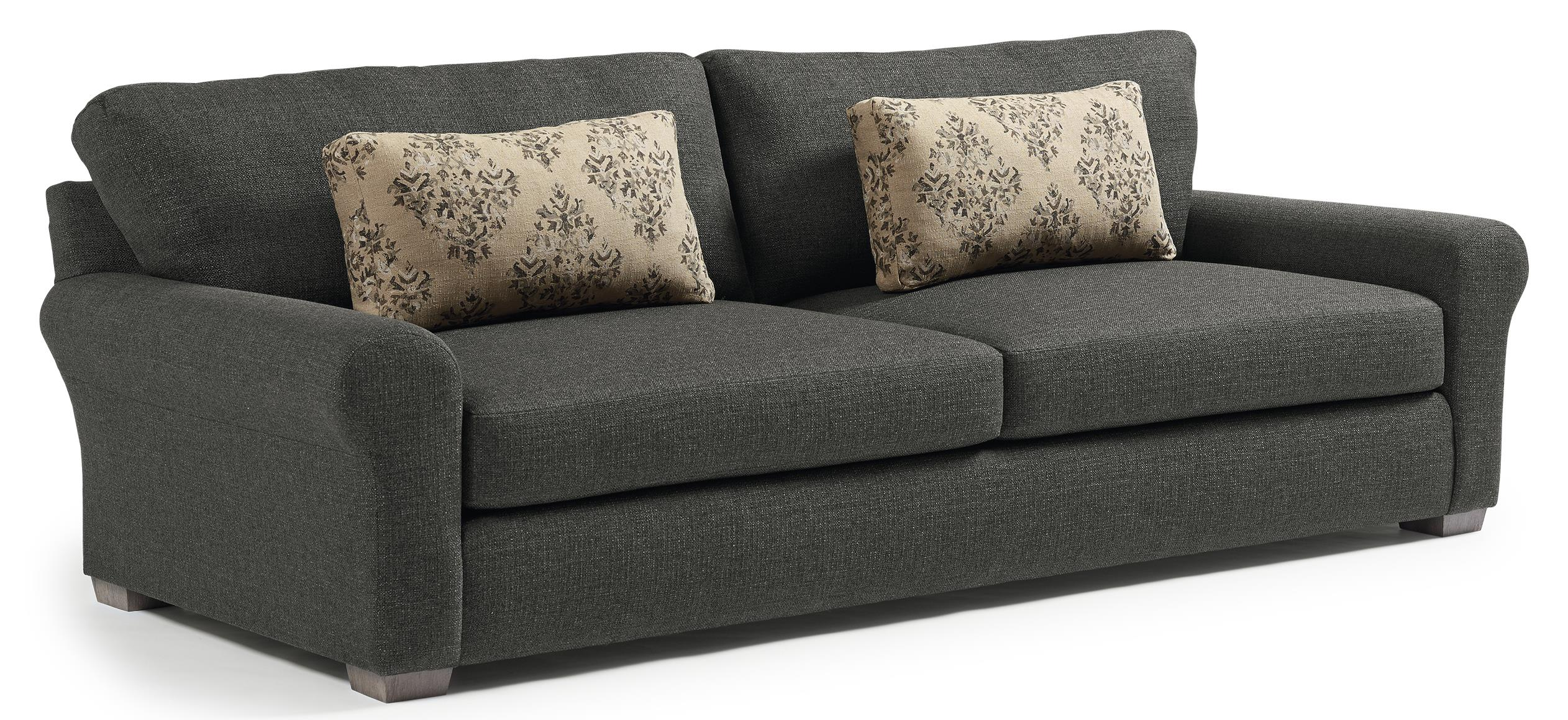 Big Cushion Sofa Best Home Furnishings Sophia S69 Transitional Wide Sofa