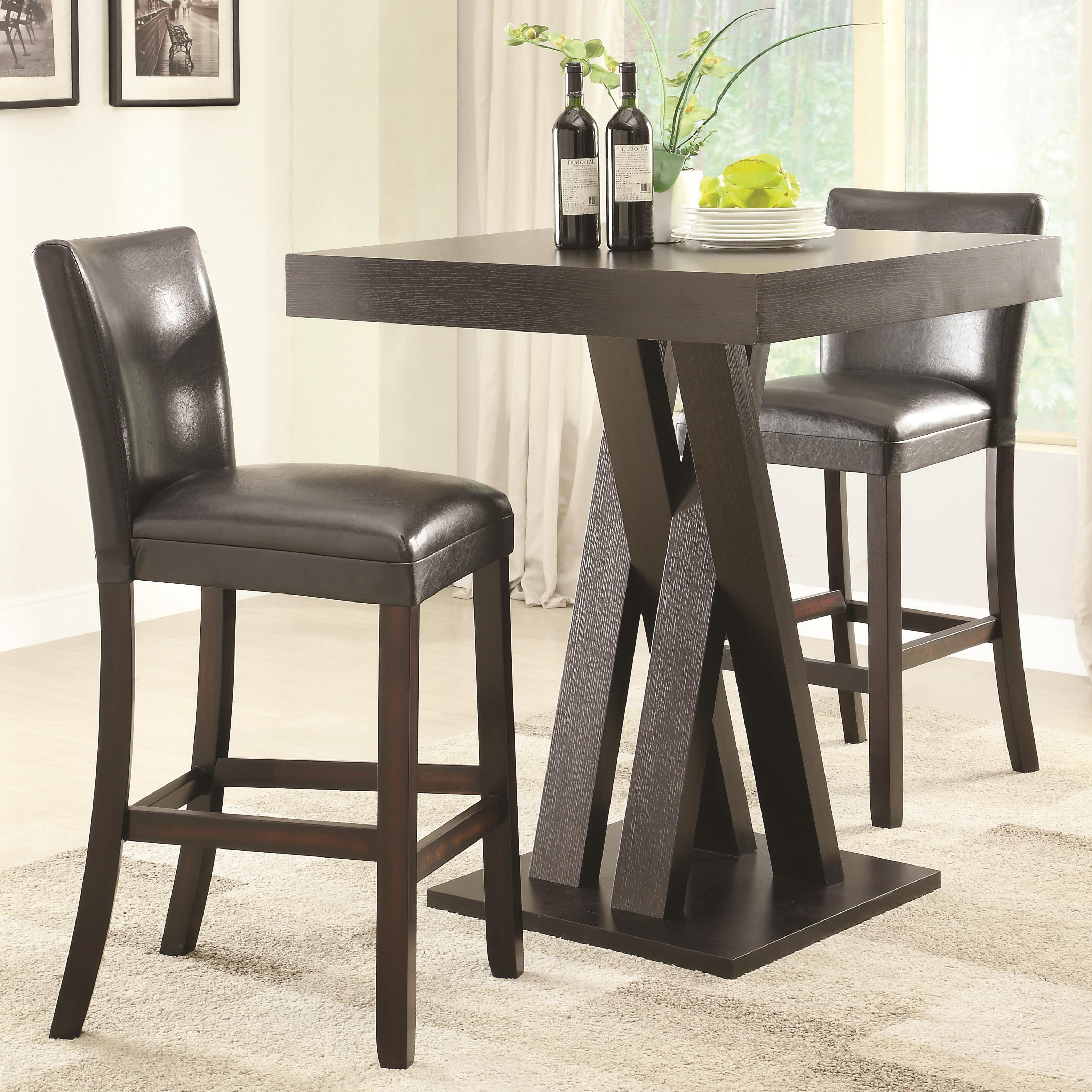 Bar Stools And Table Set Coaster Bar Units And Bar Tables 3 Pc Bar Height Table And