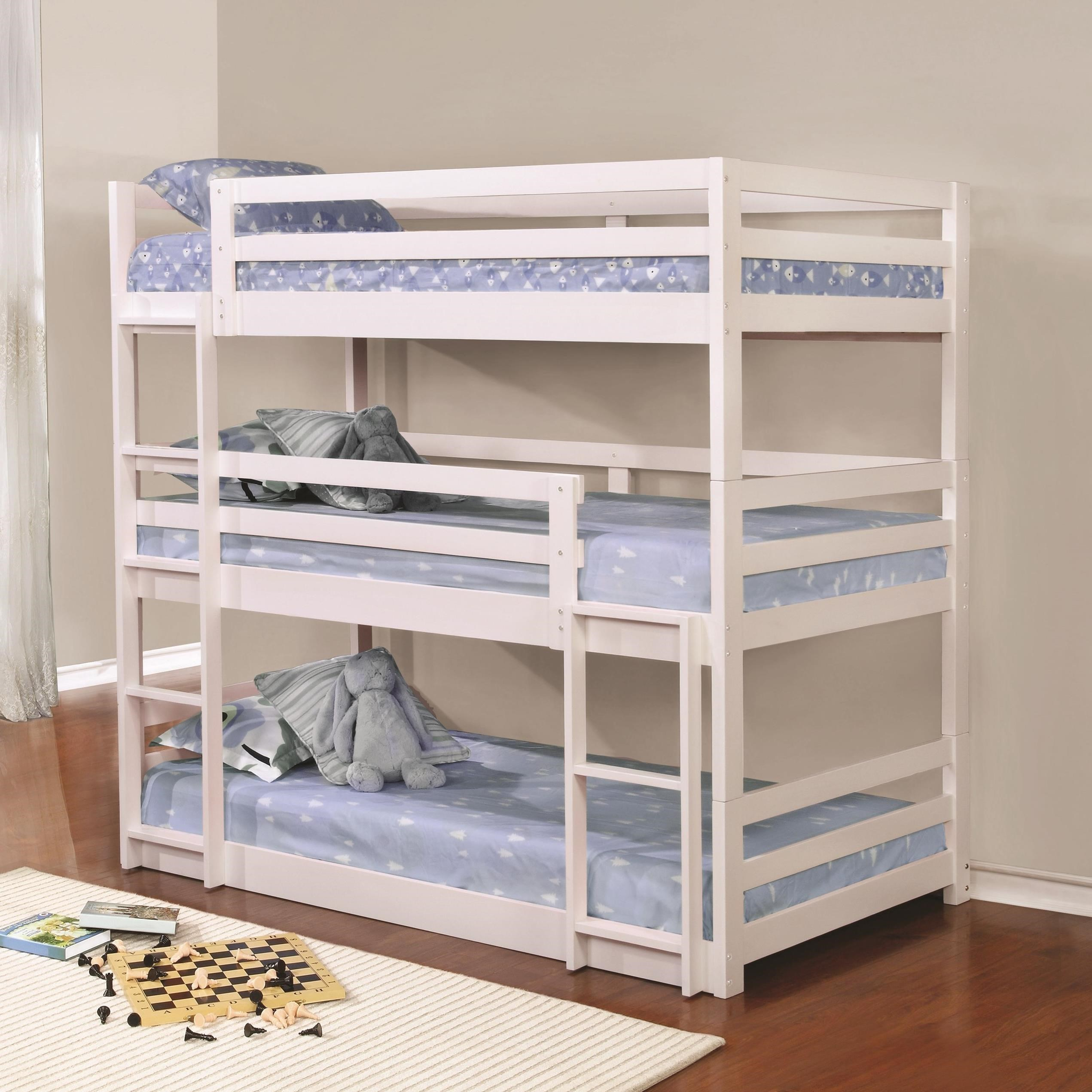 Bed Bunk Coaster Bunks Triple Layer Bunk Bed Value City Furniture