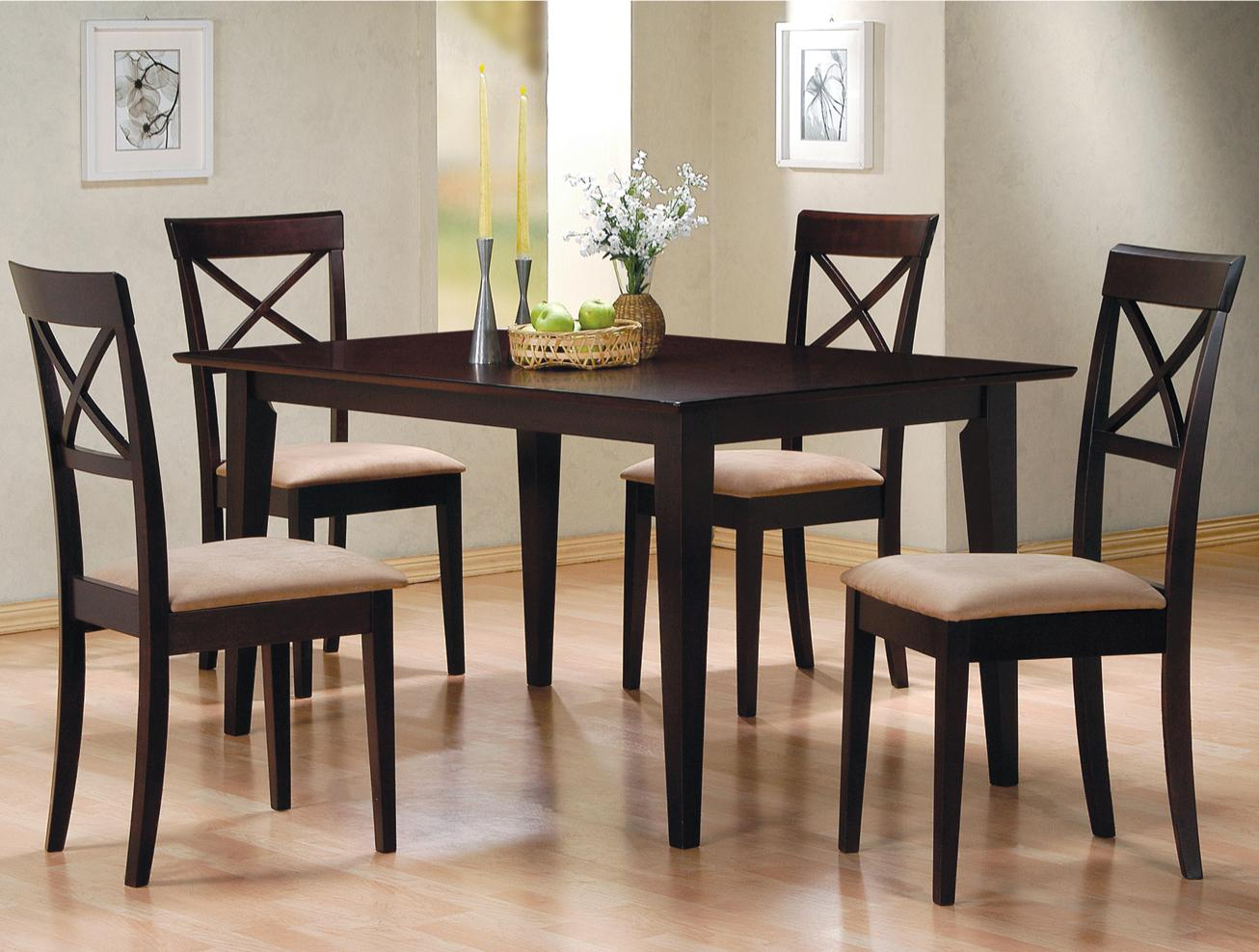 Mixing Dining Room Chairs Coaster Mix And Match 100771 Rectangle Leg Dining Table