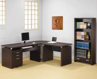 Coaster Skylar Contemporary L Shaped Computer Desk | Del ...