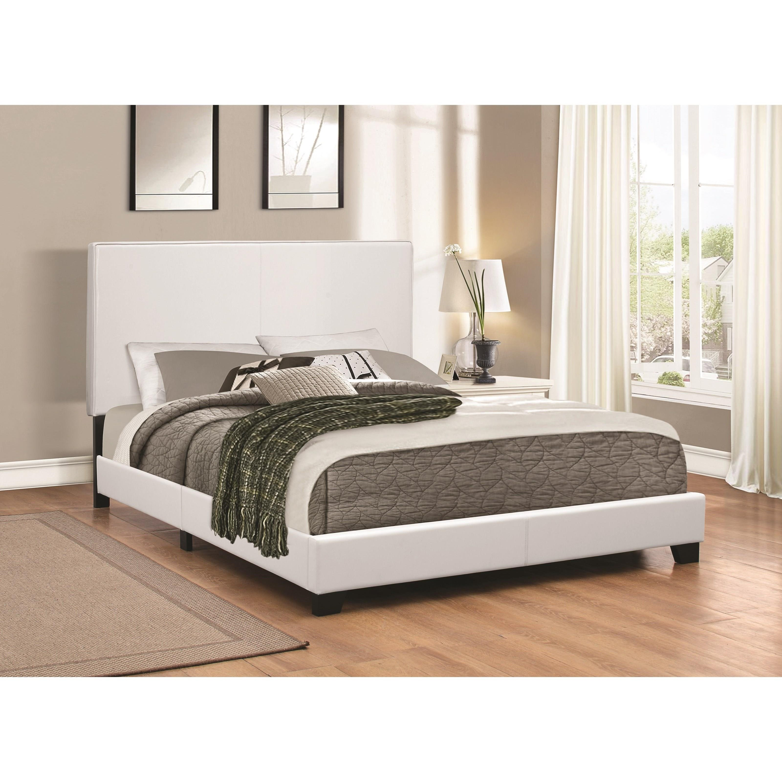Very Low Platform Bed Coaster Upholstered Beds 300559q Upholstered Low Profile