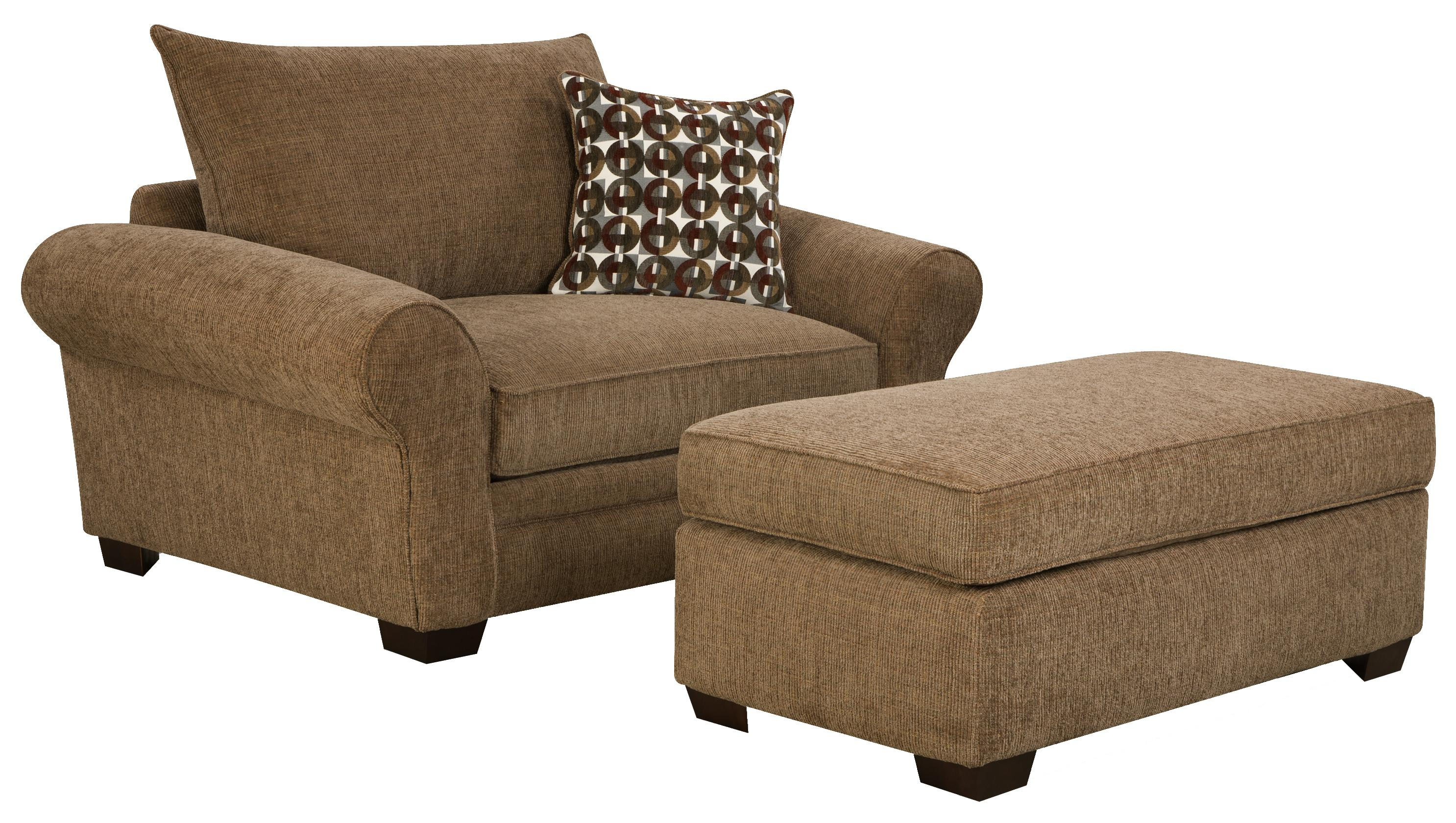 Comfy Chair With Ottoman 5460 Extra Large Chair And A Half And Ottoman Set For Casual