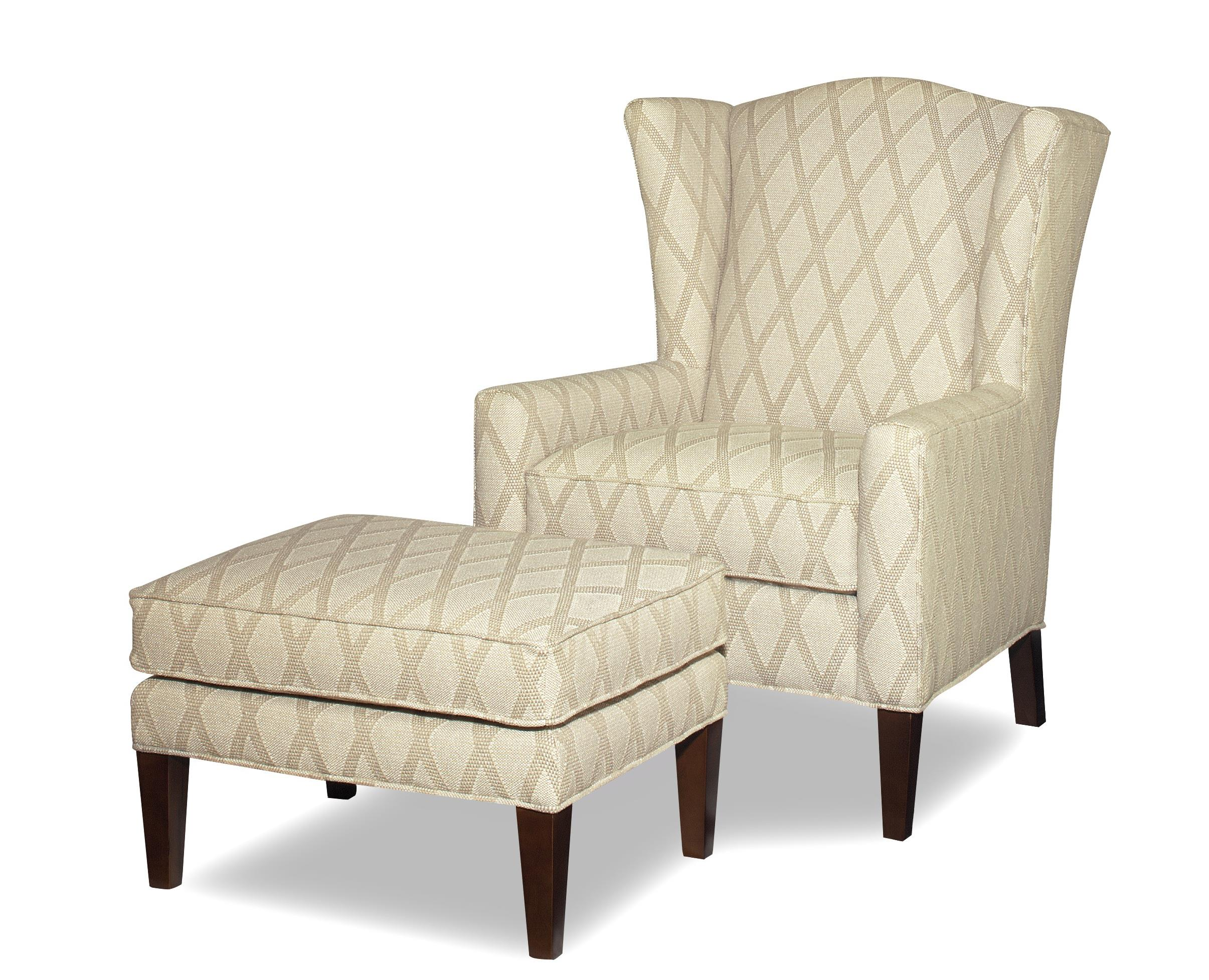 Wide Chair And Ottoman Accent Chairs Wing Chair And Ottoman With Wide Flared