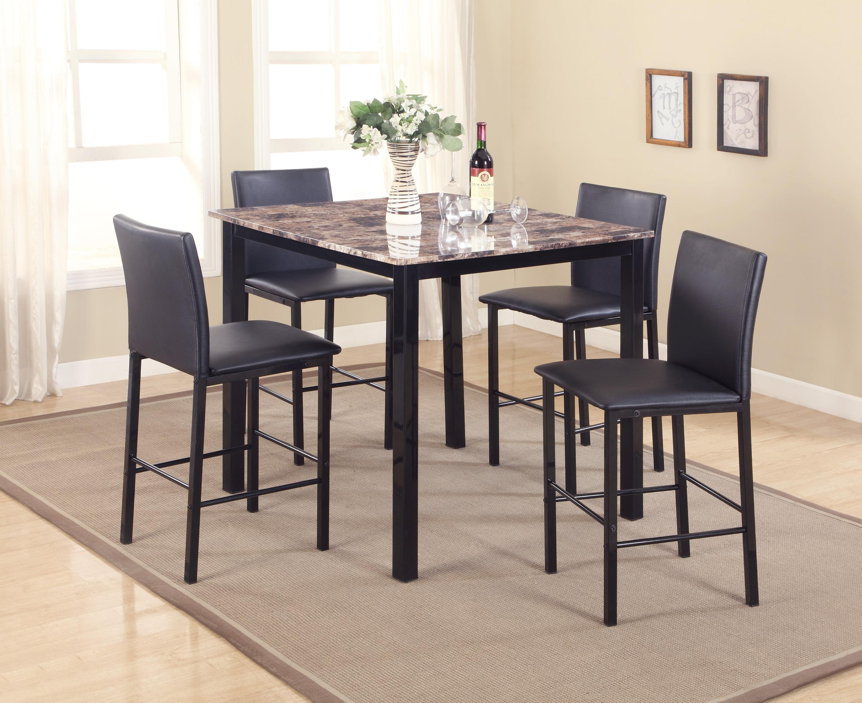Countertop Table Sets Crown Mark Aiden 1817set 5 Piece Counter Height Dinette