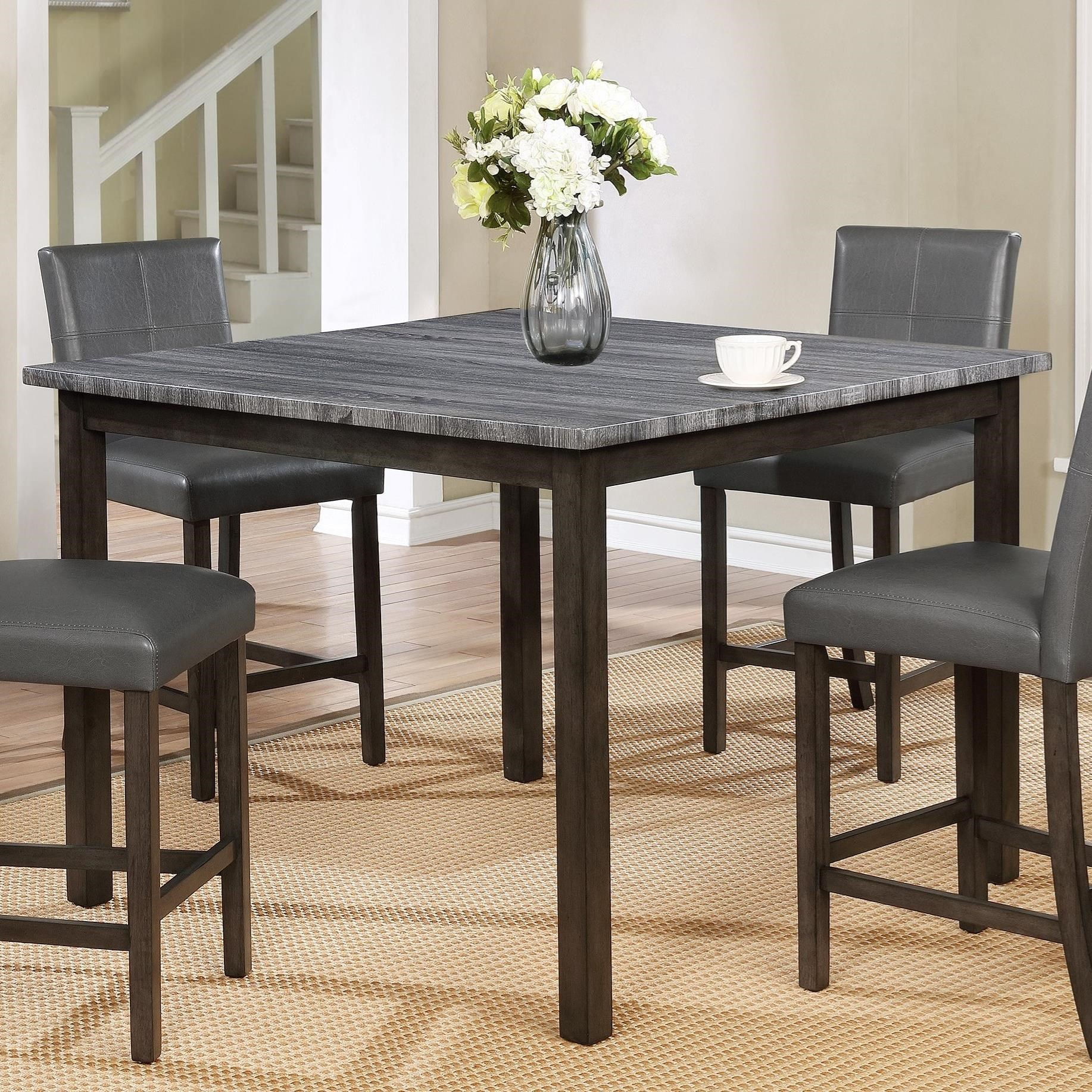 Dining Table Height Cm Crown Mark Pompei Two Tone Counter Height Dining Table