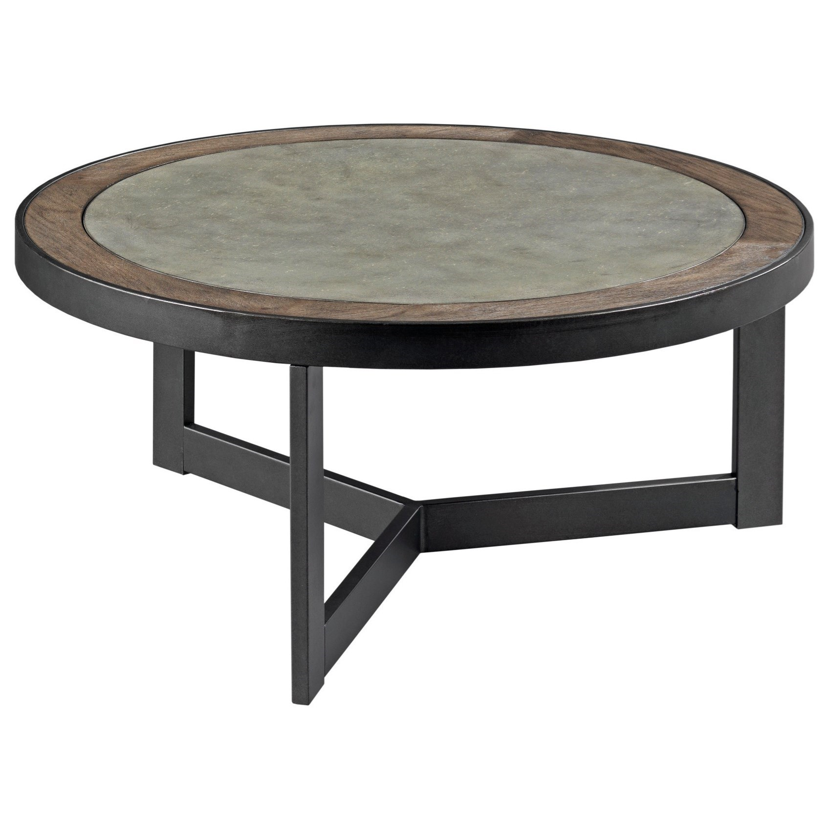 Round Contemporary Coffee Table England Graystone Contemporary Round Cocktail Table