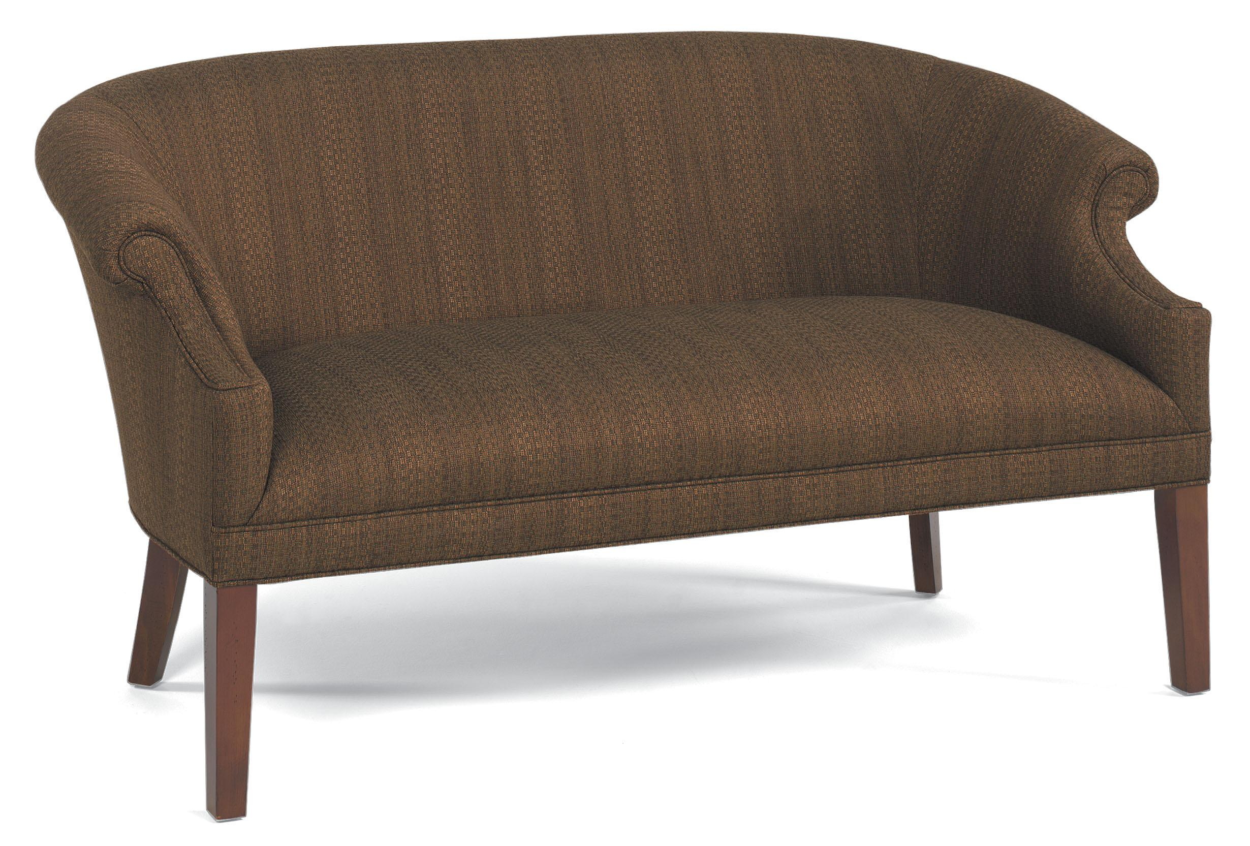 Sofa Legs Tall Fairfield Sofa Accents Stationary Sofa With Tall Wood Legs