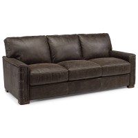Flexsteel Latitudes - Lomax Rustic Leather Sofa with ...
