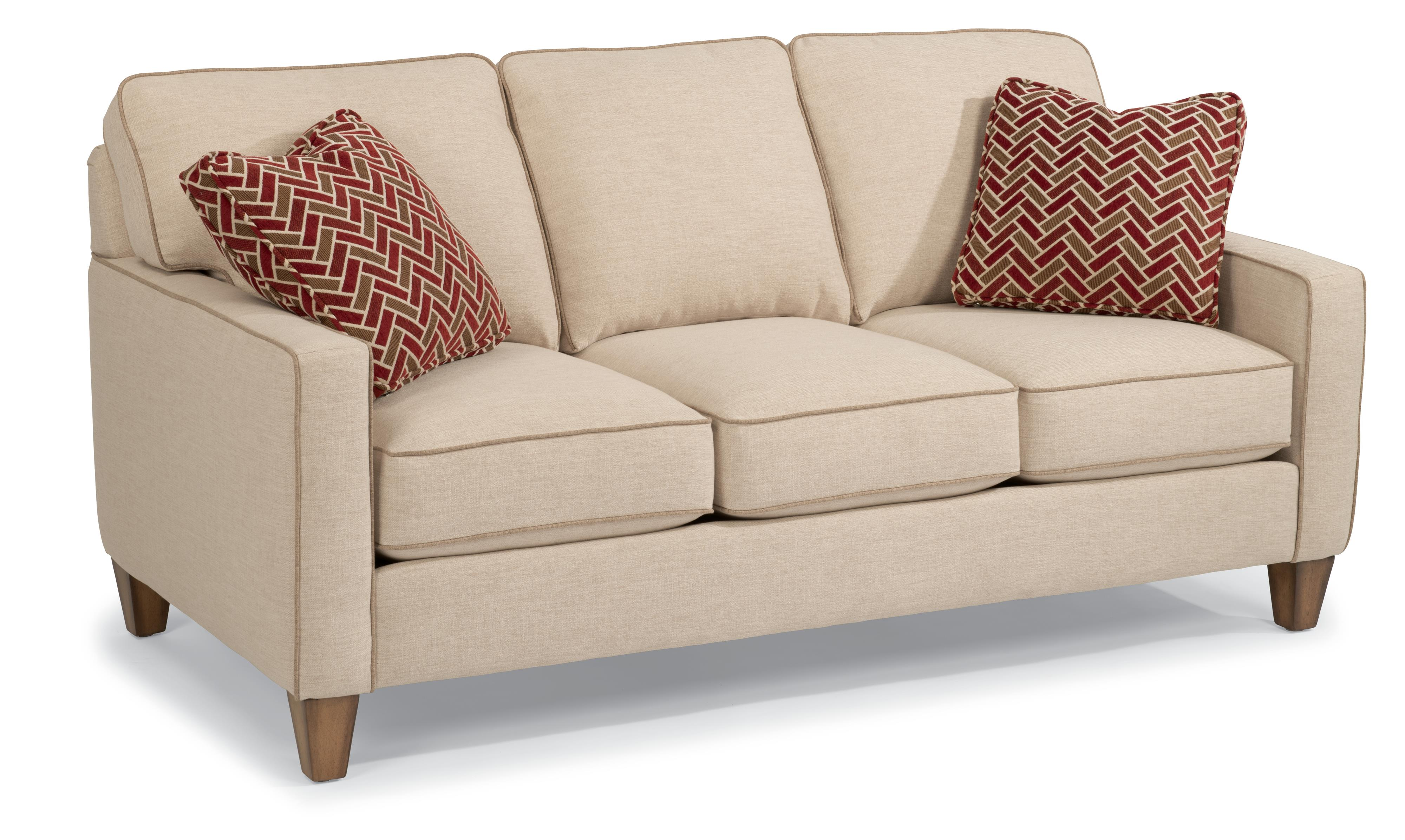 Sofa Welt Flexsteel Macleran Stationary Sofa With Reversible Seat