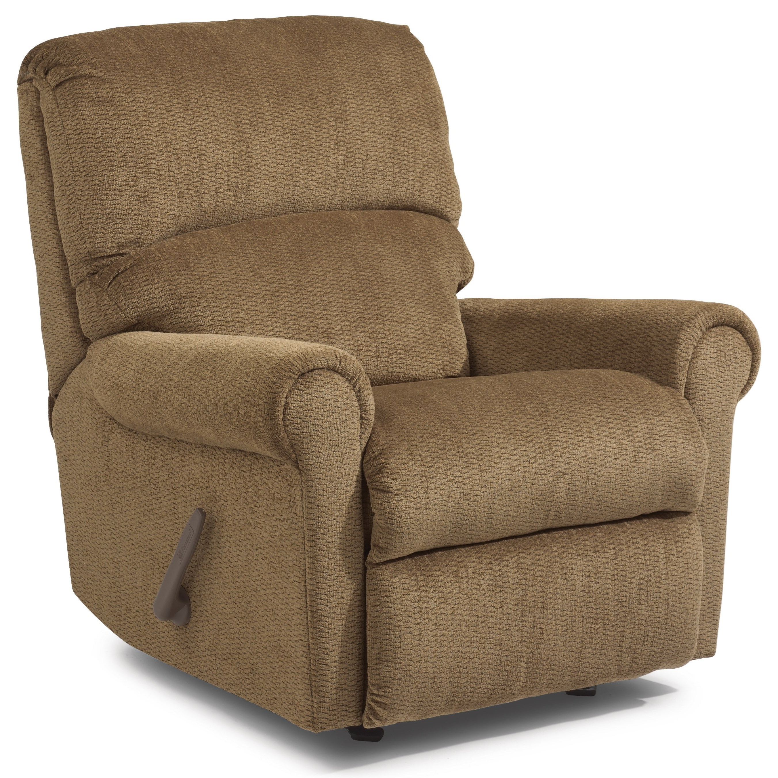 Furniture Markham Flexsteel Markham Rocker Recliner With Rolled Arms