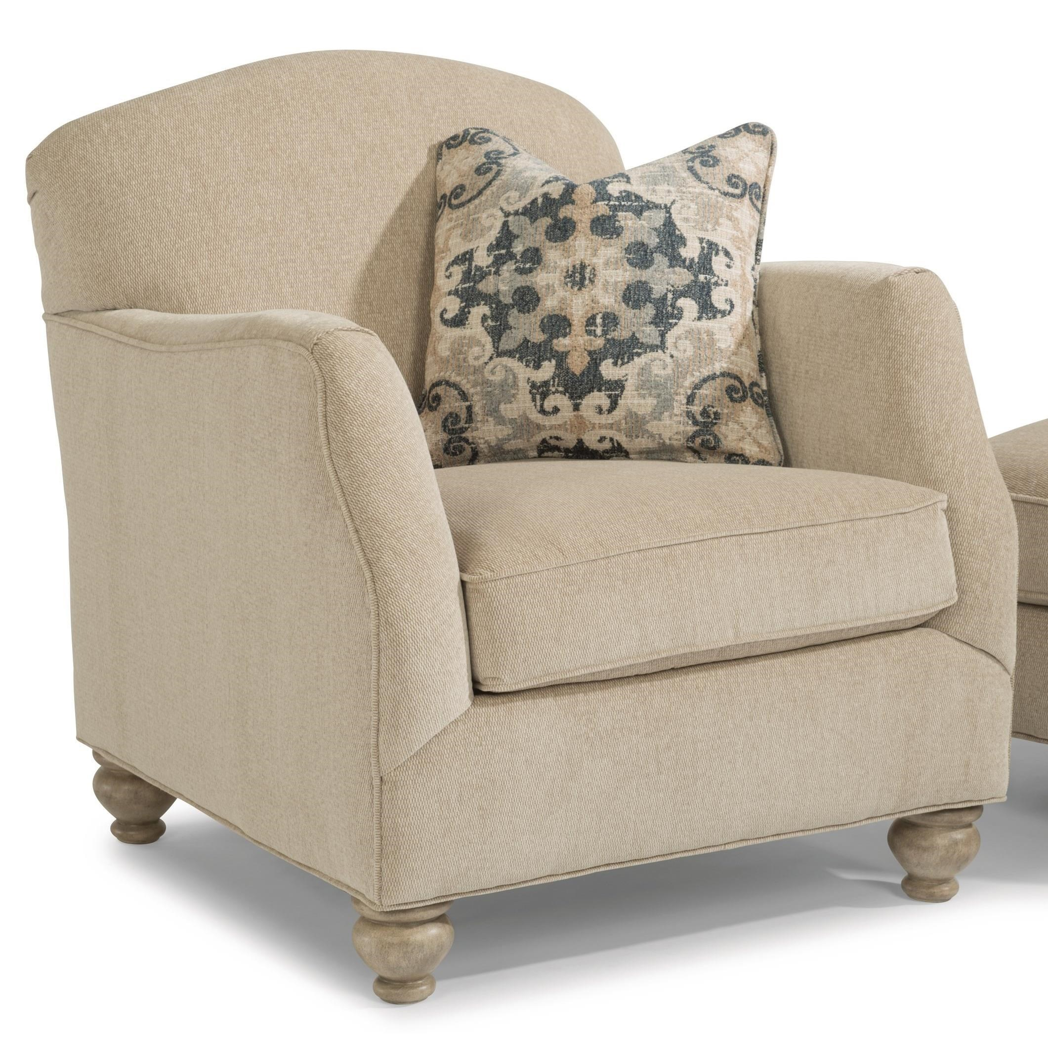Plymouth Furniture Clearance Flexsteel Plymouth Transitional Chair With Bun Feet