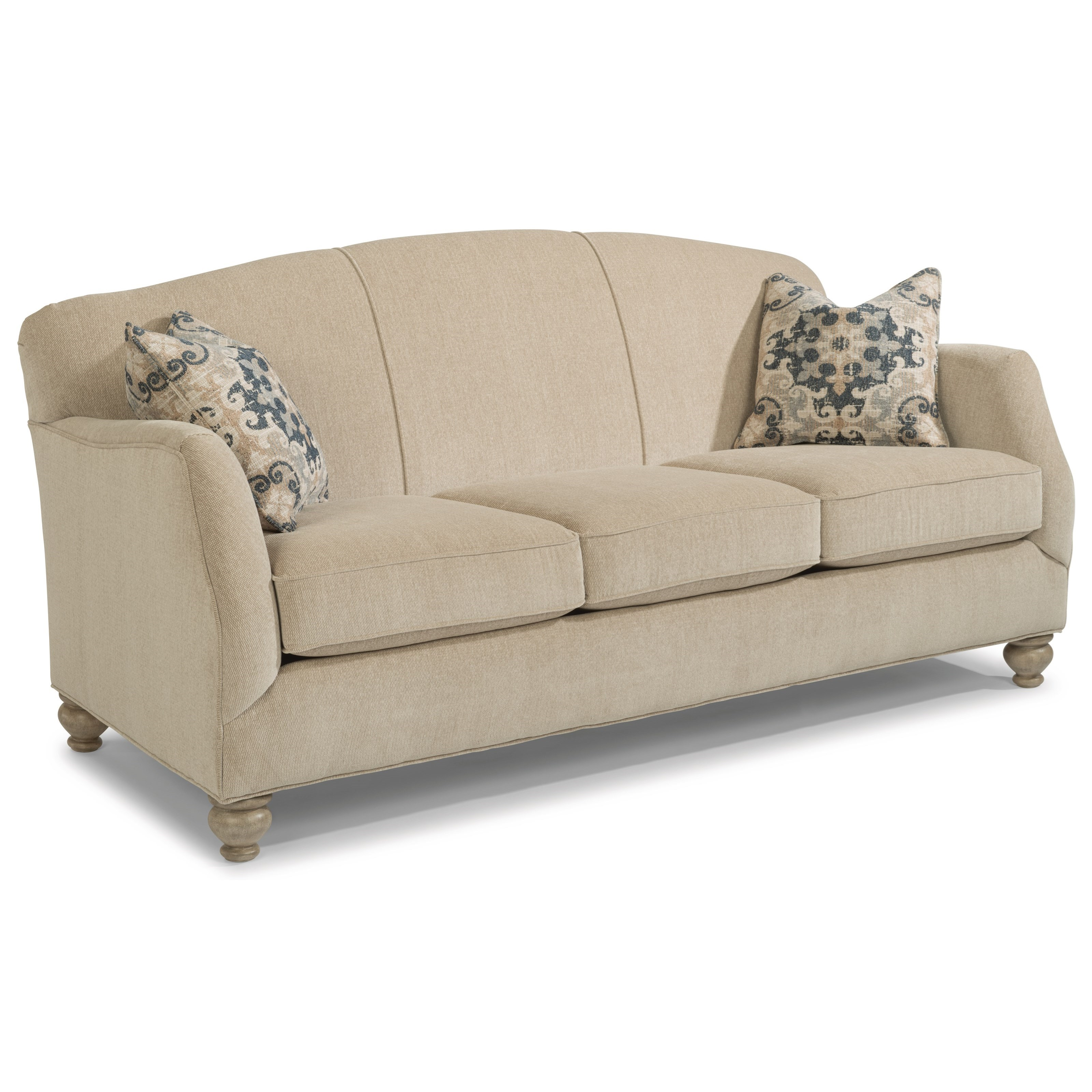 Plymouth Furniture Clearance Flexsteel Plymouth Transitional Sofa With Bun Feet Turk