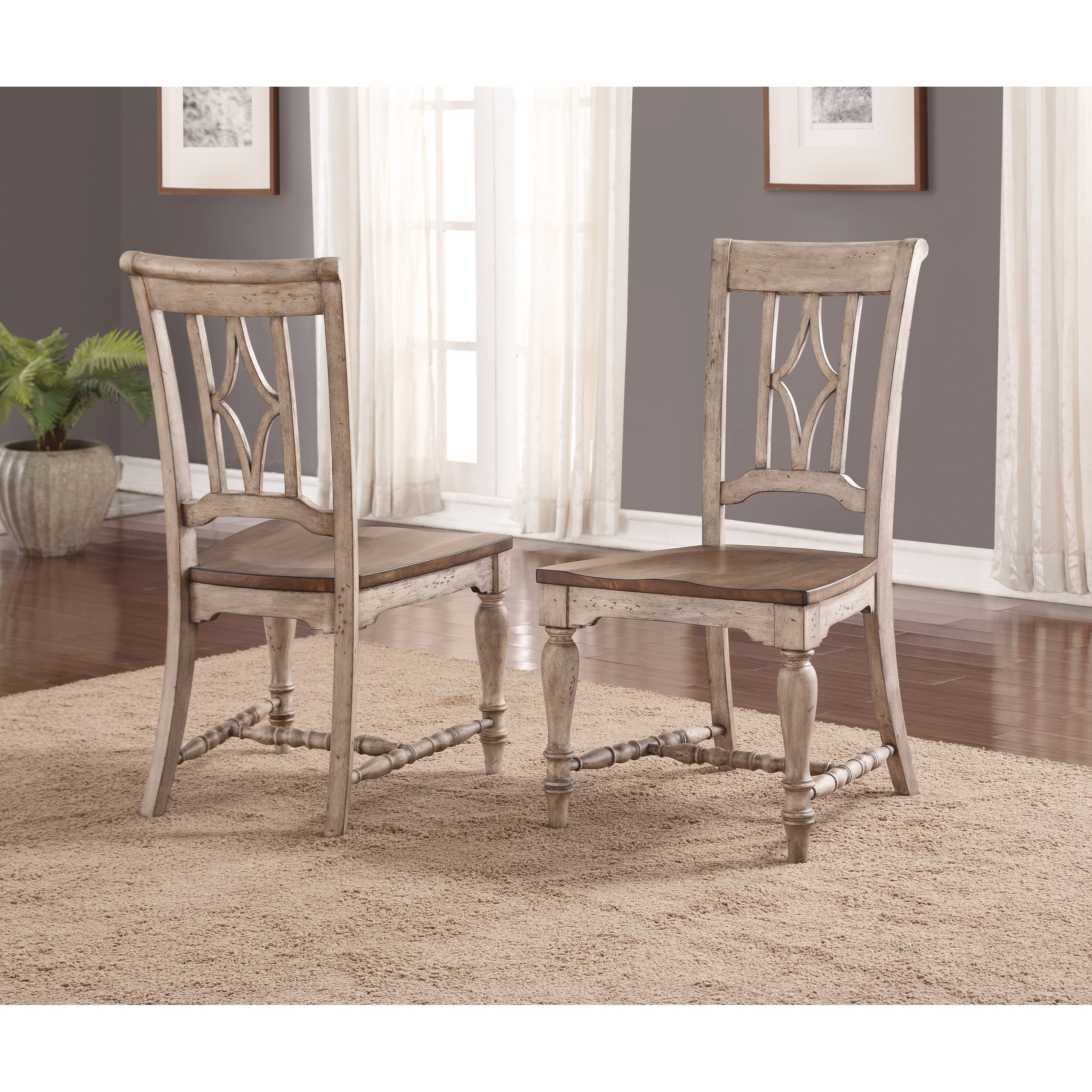 Plymouth Furniture Clearance Flexsteel Wynwood Collection Plymouth Cottage Dining Side
