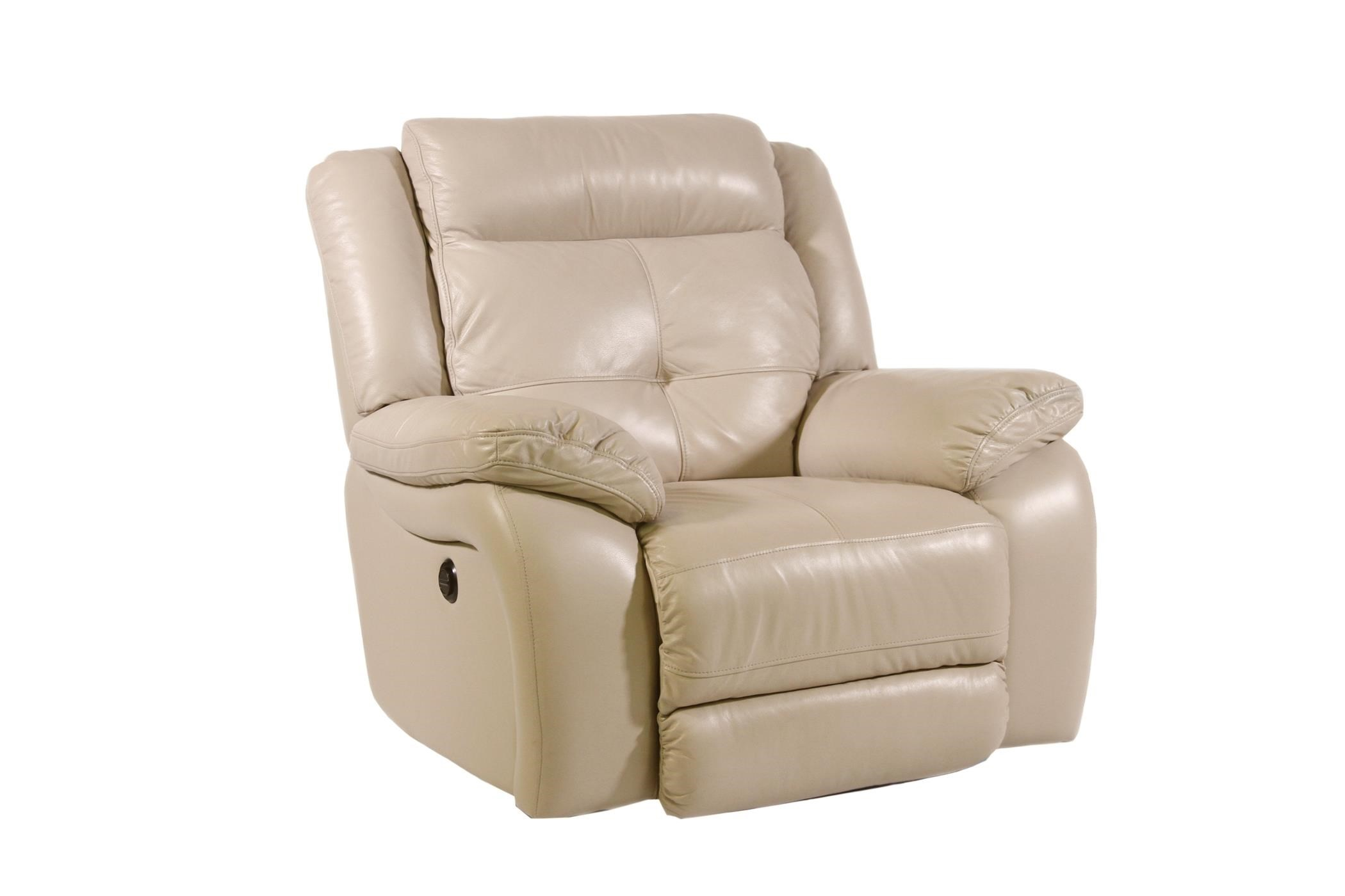Futura Leather Furniture Futura Leather Pebble Power Reclining Chair Homeworld
