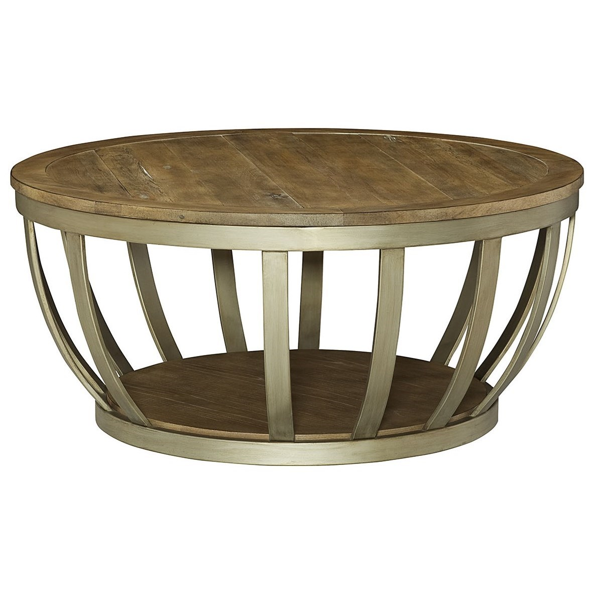 Round Contemporary Coffee Table Hammary Modern Theory Round Cocktail Table With Metal