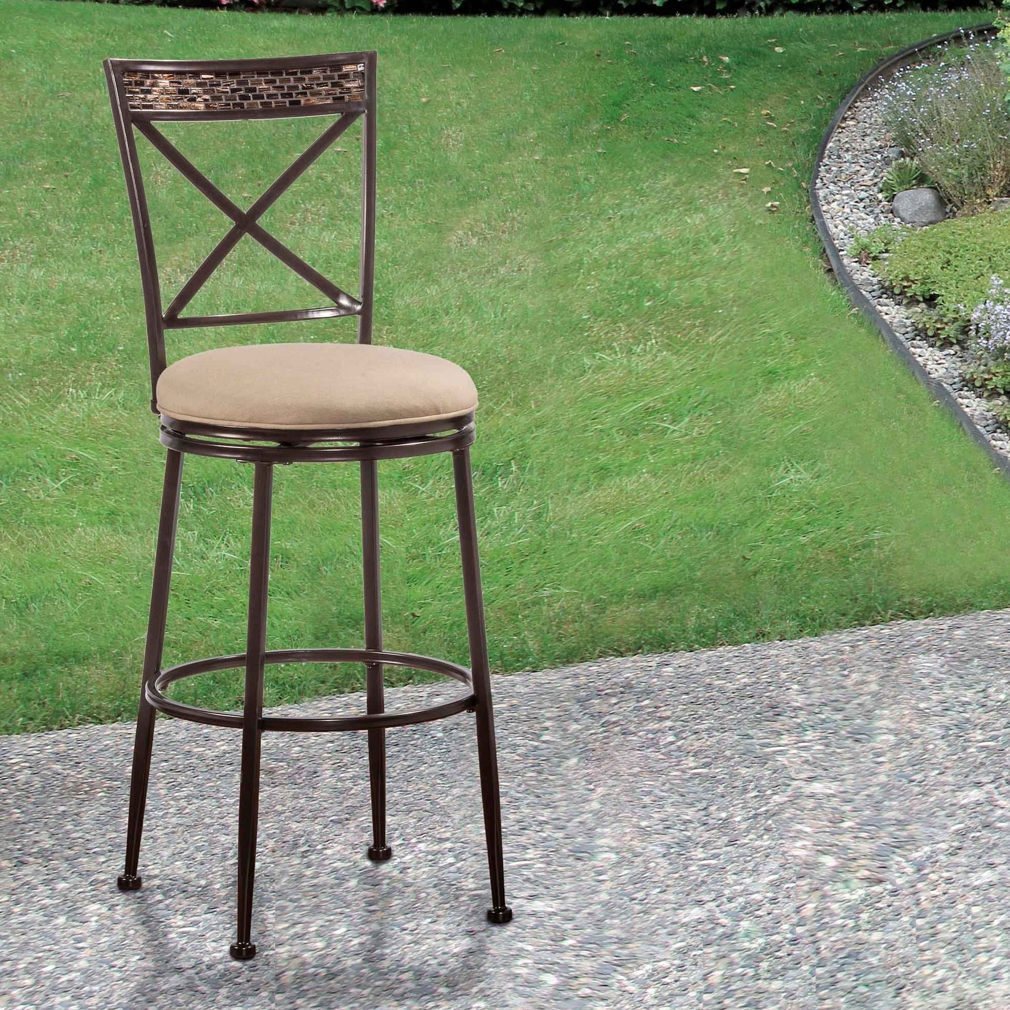 Outside Bar Chairs Hillsdale Indoor Outdoor Stools Swivel Bar Stool With X